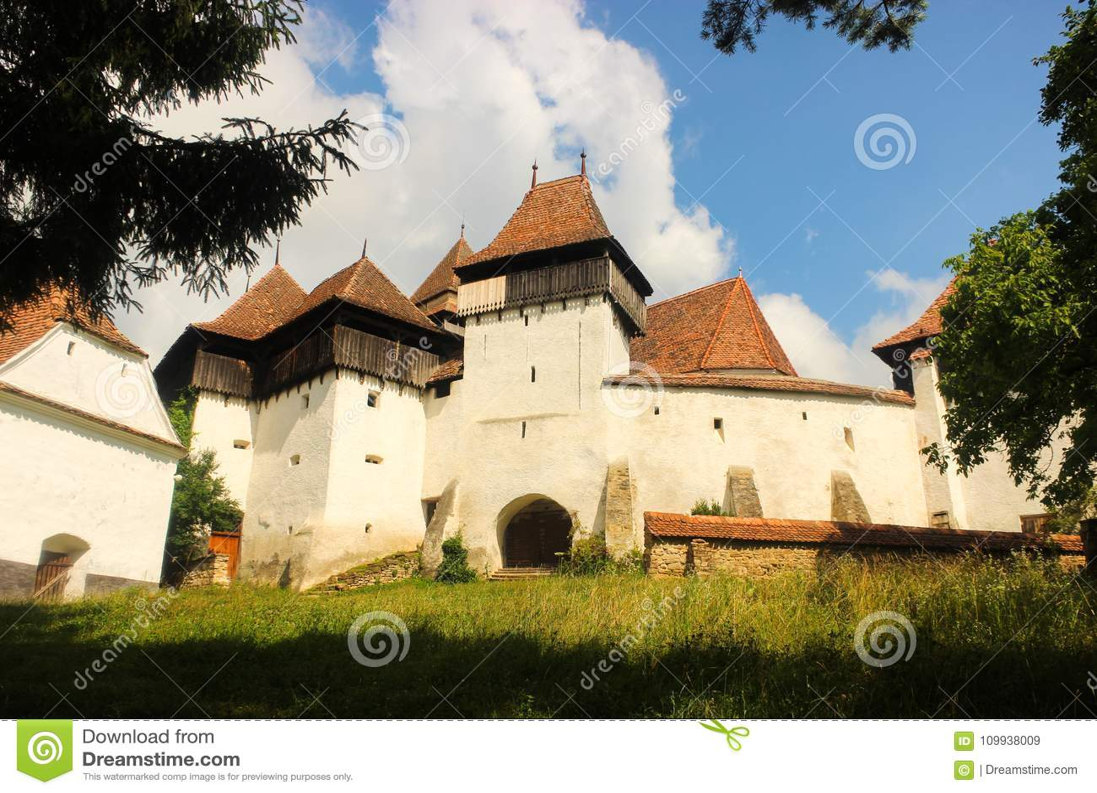 Viscri罗马尼亚被加强的教会