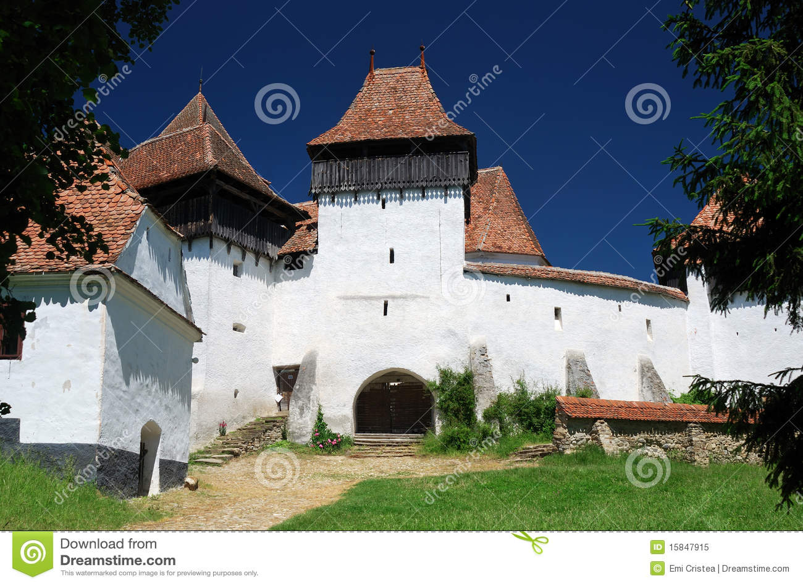 Viscri Румынии transylvania панорамы