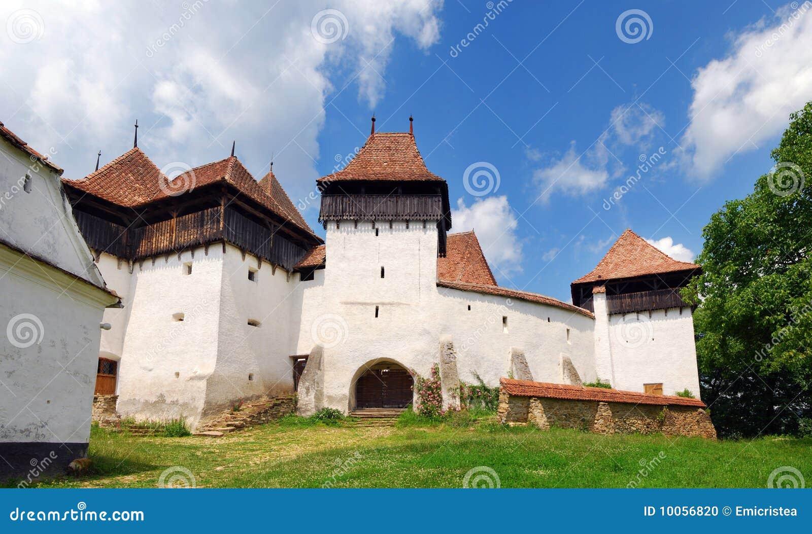 Viscri fortificou a igreja em Romania