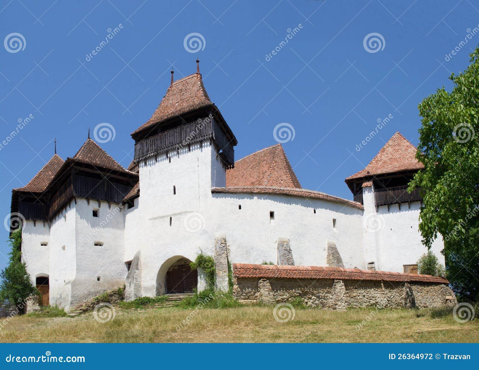 Viscri stärkte kyrkan, Transylvania, Rumänien