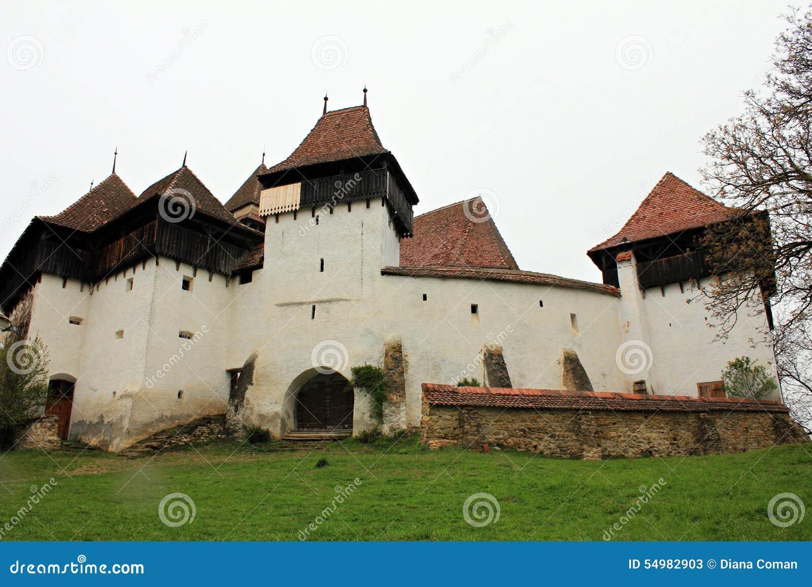 Viscri stärkte kyrkan - Transylvania, Rumänien