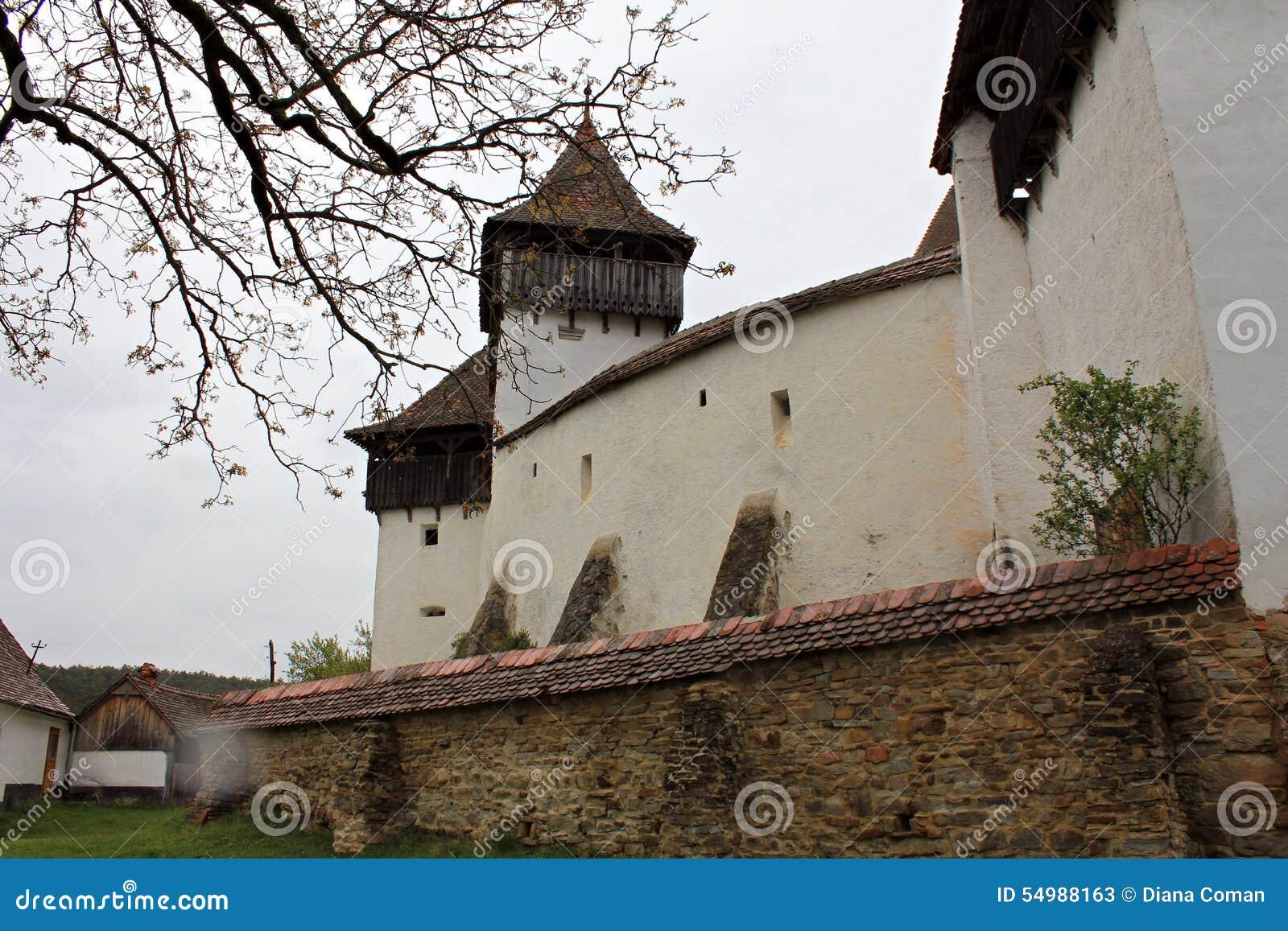 Viscri stärkte kyrkligt - omgeende väggar