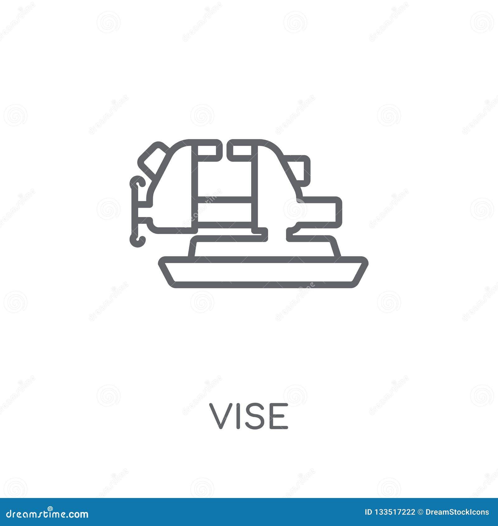 Vise linear icon. Modern outline Vise logo concept on white back