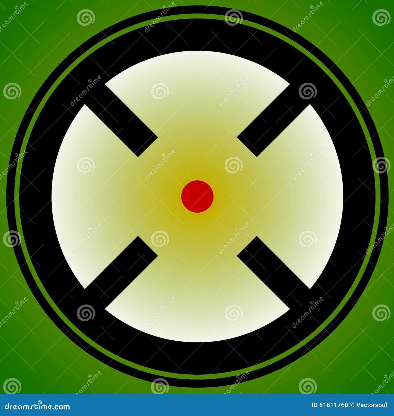 Vise a marca, retículo, ícone do crosshair para o foco, precisão, alvo