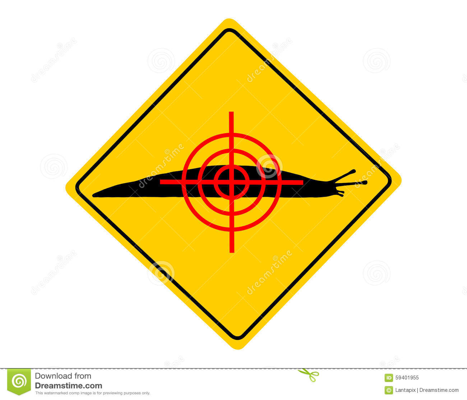 Vise o sinal de aviso das lesmas
