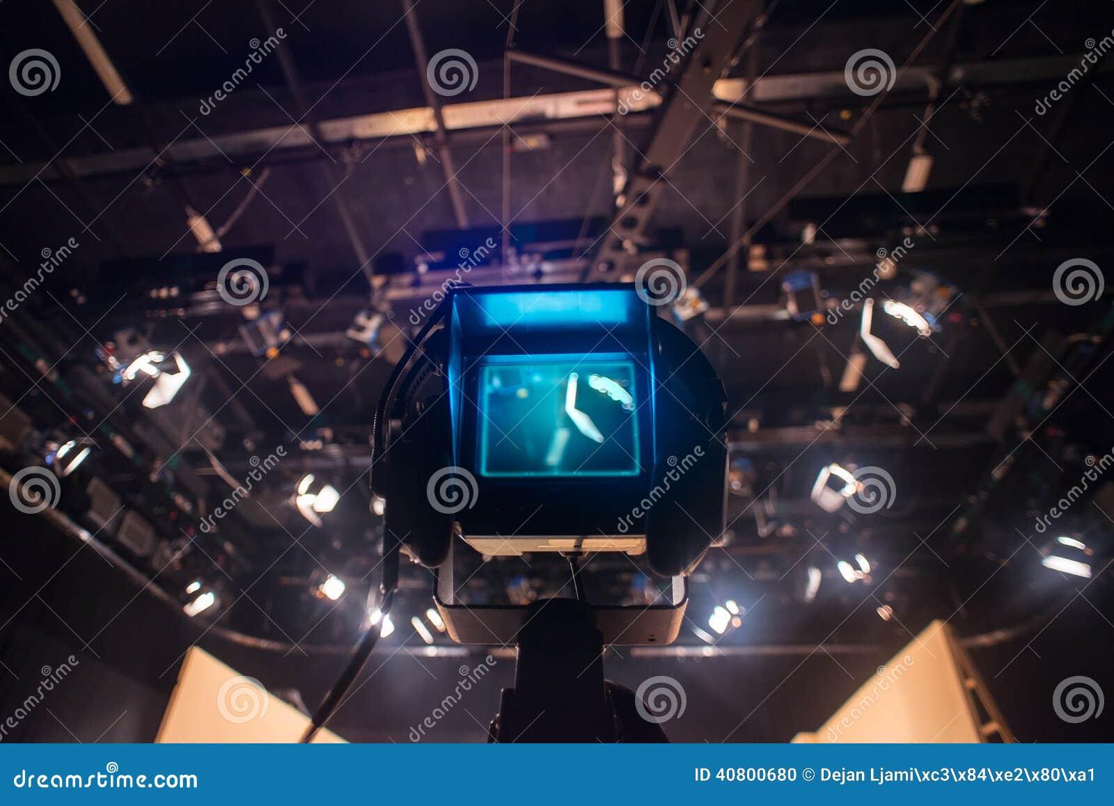 Viseur de caméra vidéo - exposition d enregistrement dans le studio de TV