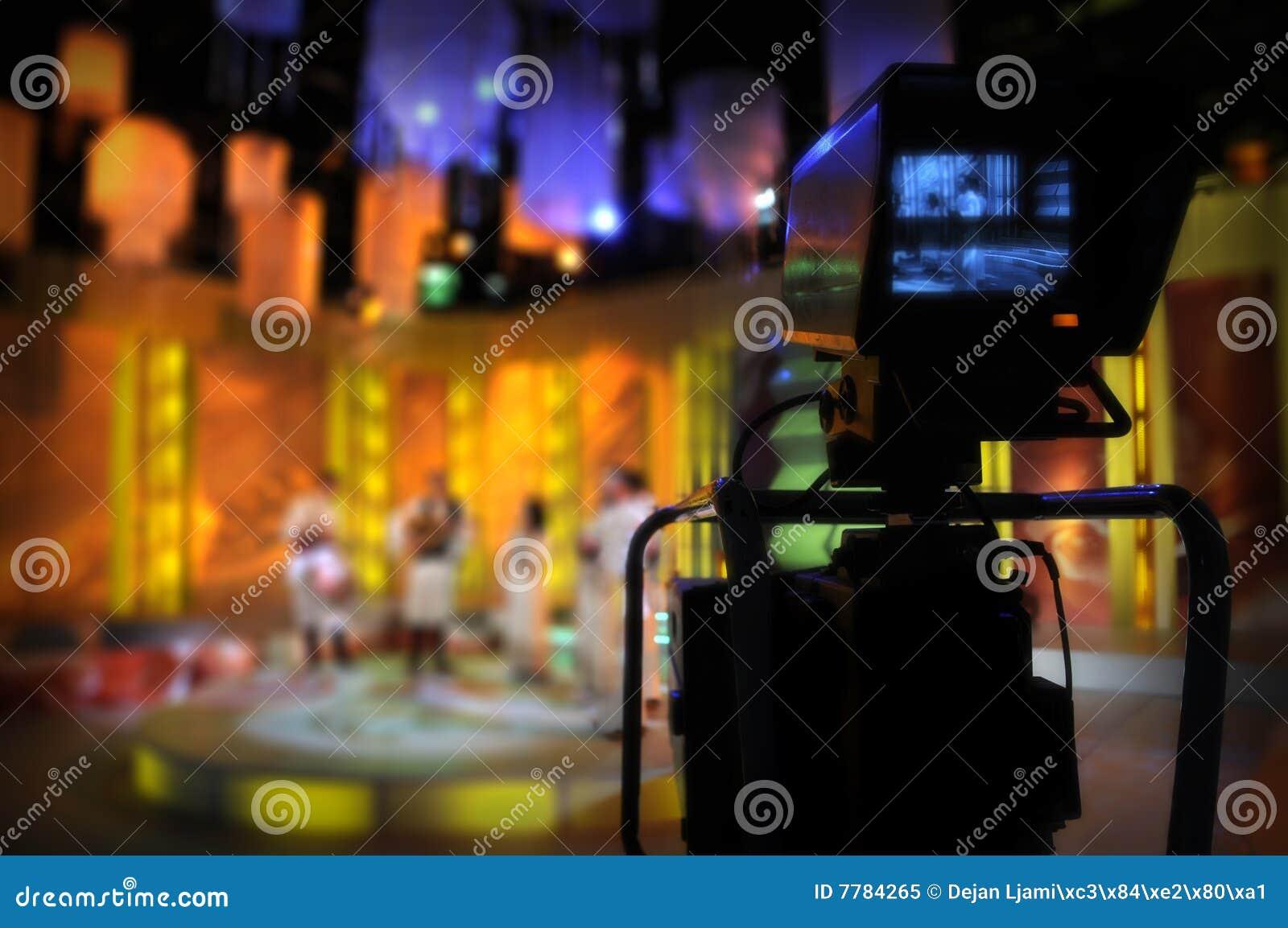 Viseur de caméra vidéo - exposition de TV