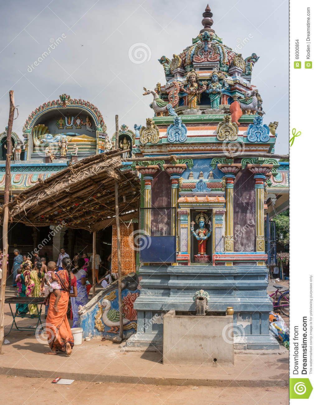 Vishnu-Durga Shrine At Amma Mandapam. Editorial Stock ...