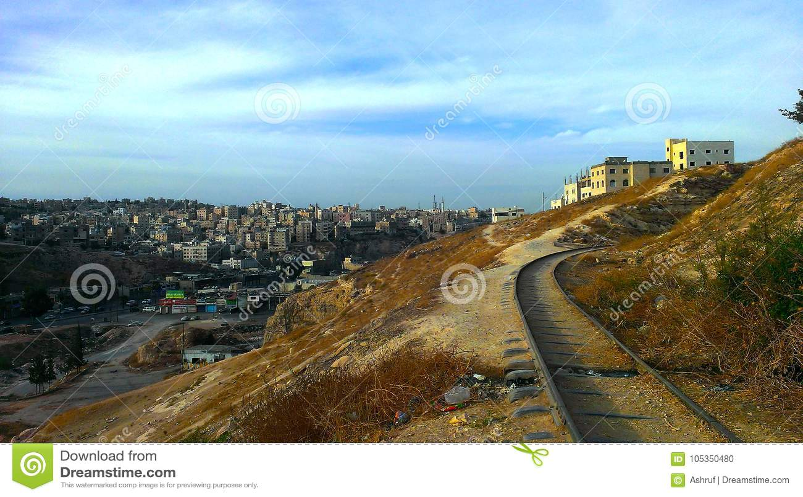 Visión desde Amman del este, Jordania