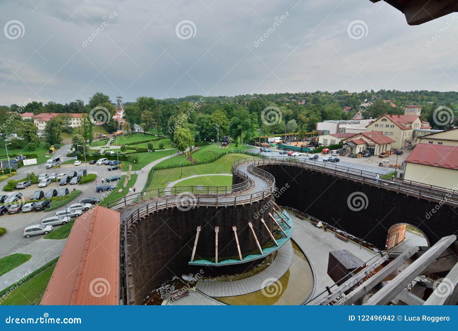 Visión desde la torre de la graduación Mina de sal de Wieliczka kraków polonia