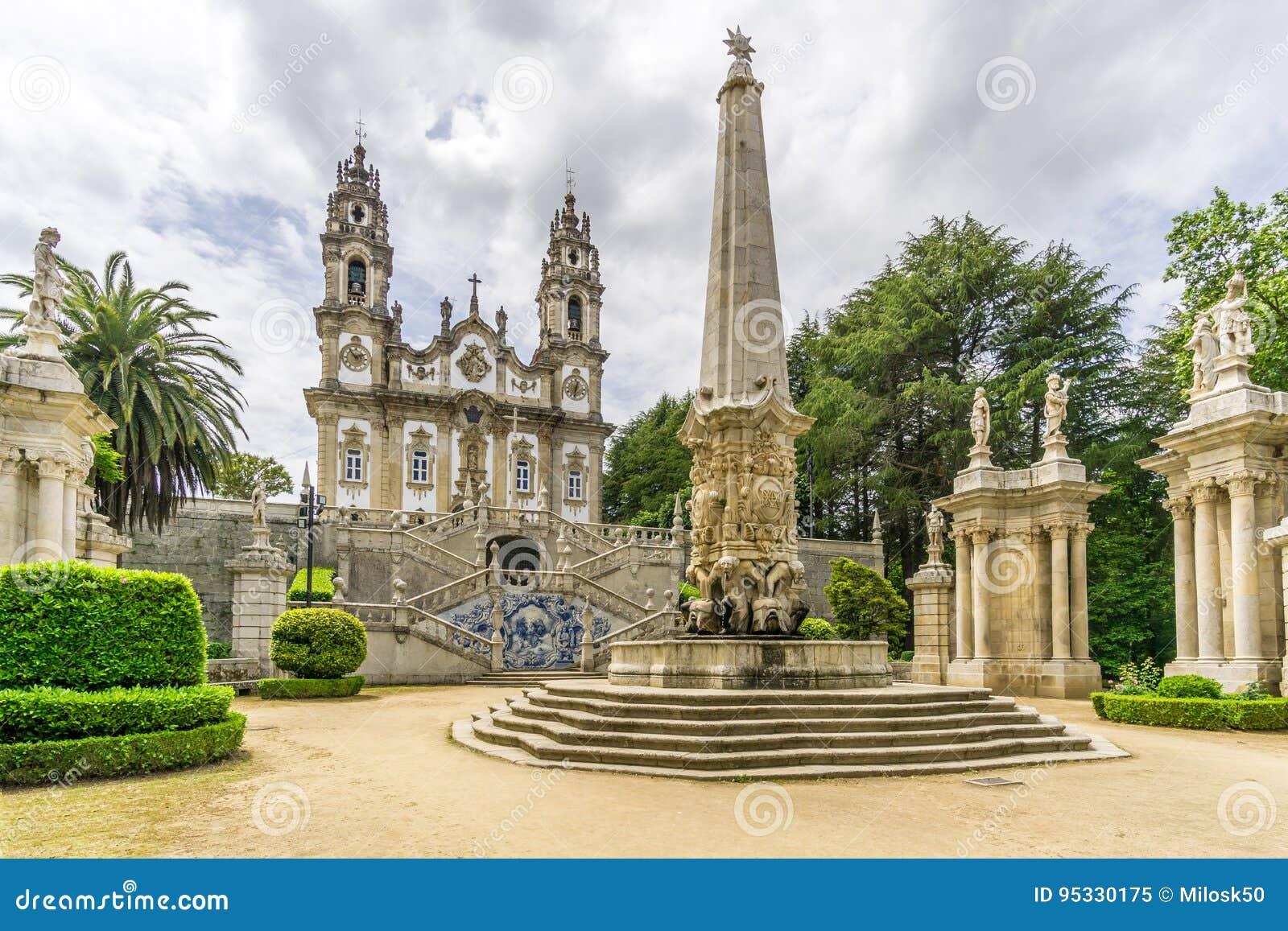 Visión en el santuario de nuestra señora de Remedios en Lamego, Portugal
