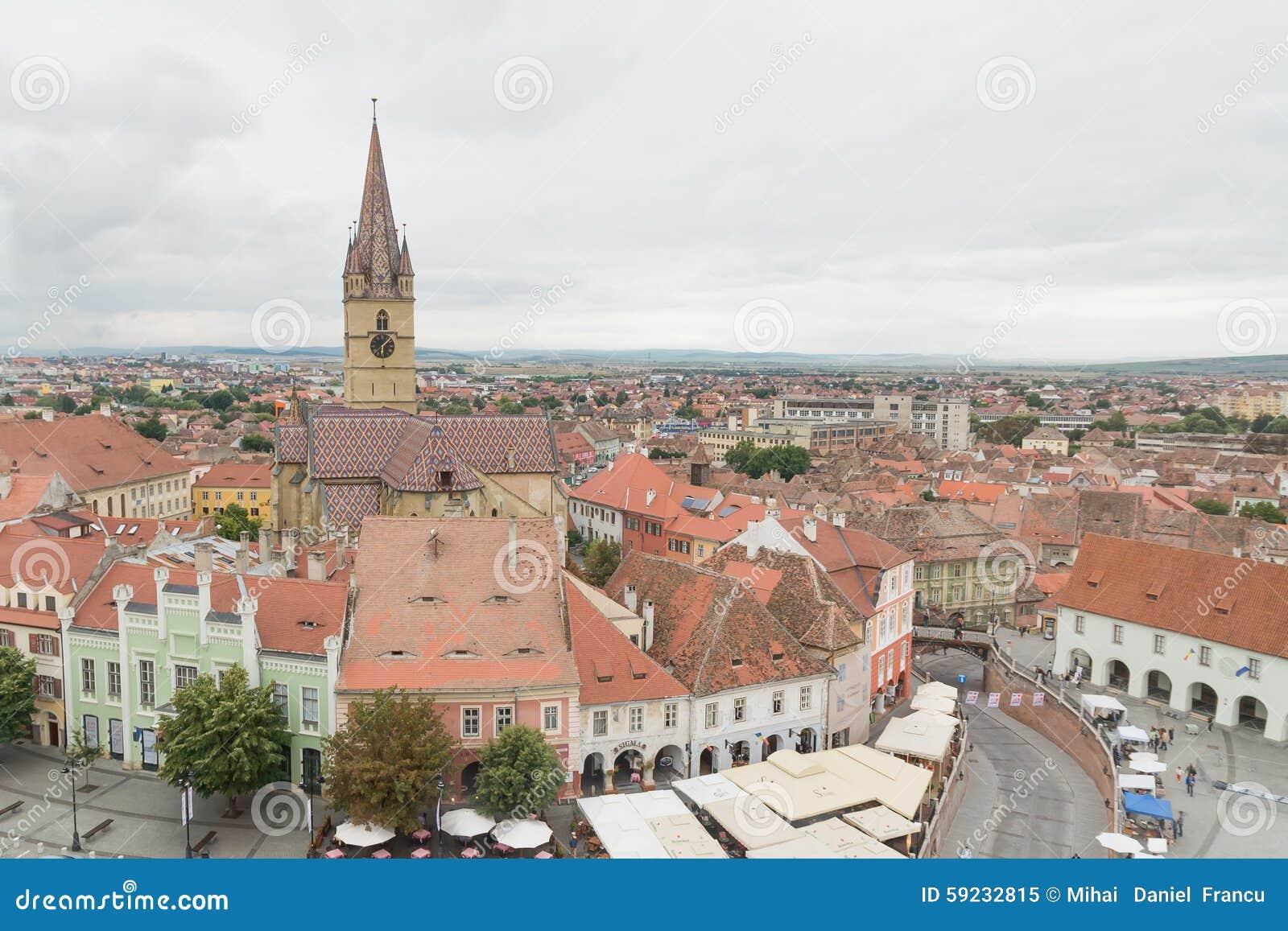 Visión sobre la ciudad de Sibiu, Rumania