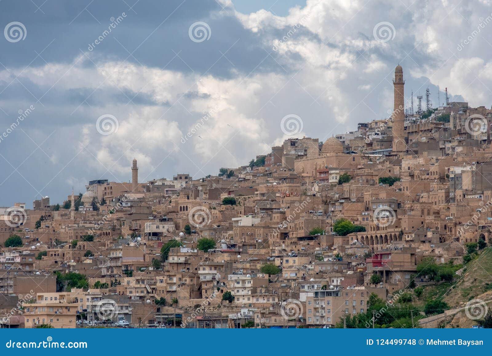 Visión sobre la ciudad vieja de Mardin, Turquía