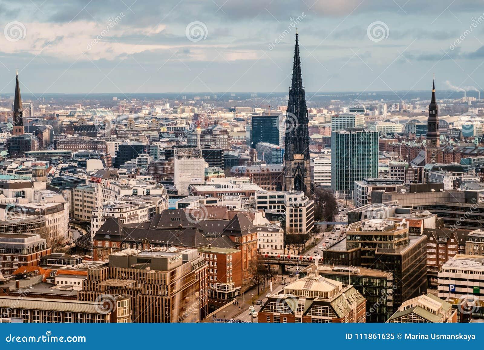 Visión superior Hamburgo