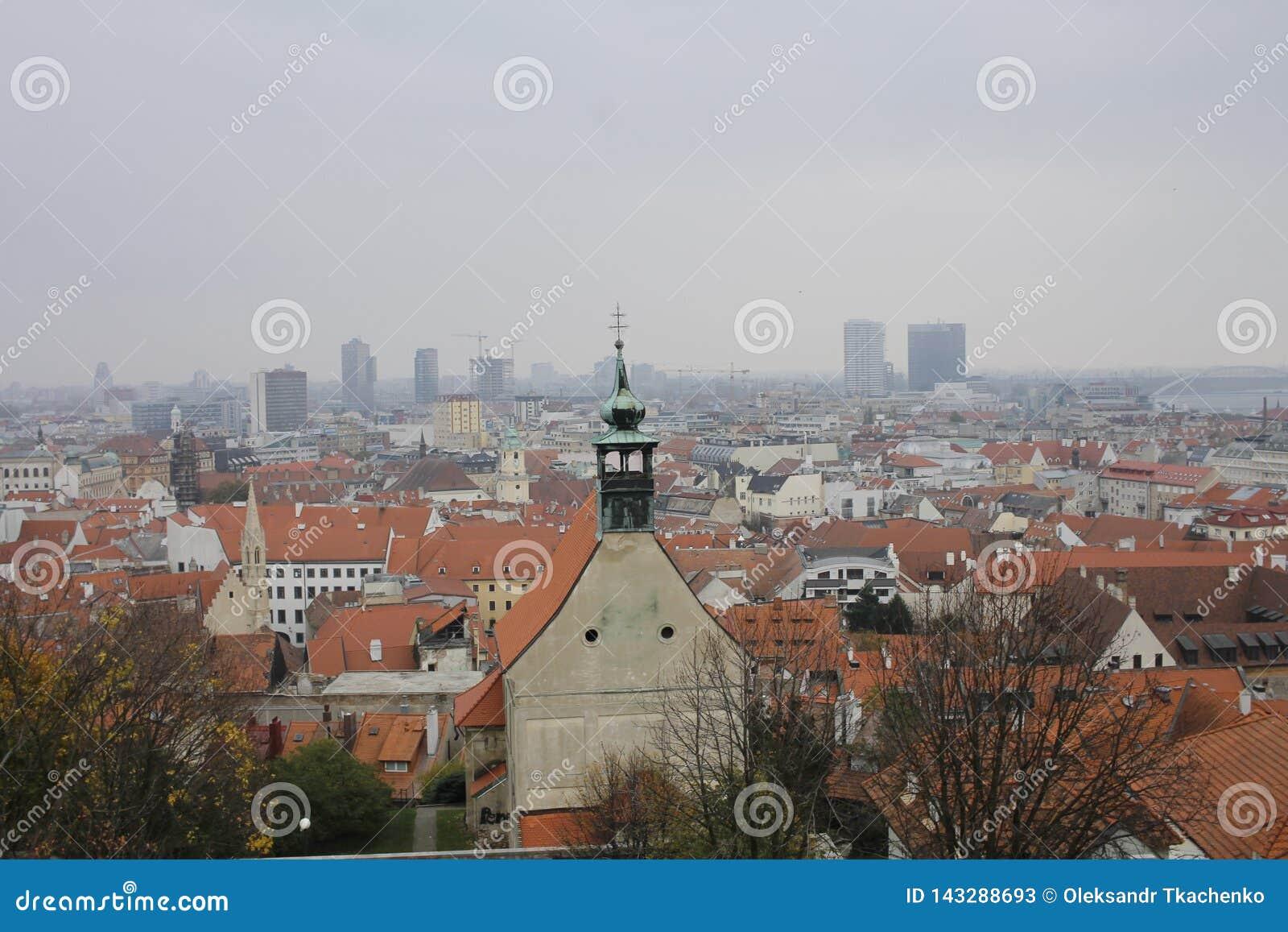 Visi?n desde el castillo de Bratislava