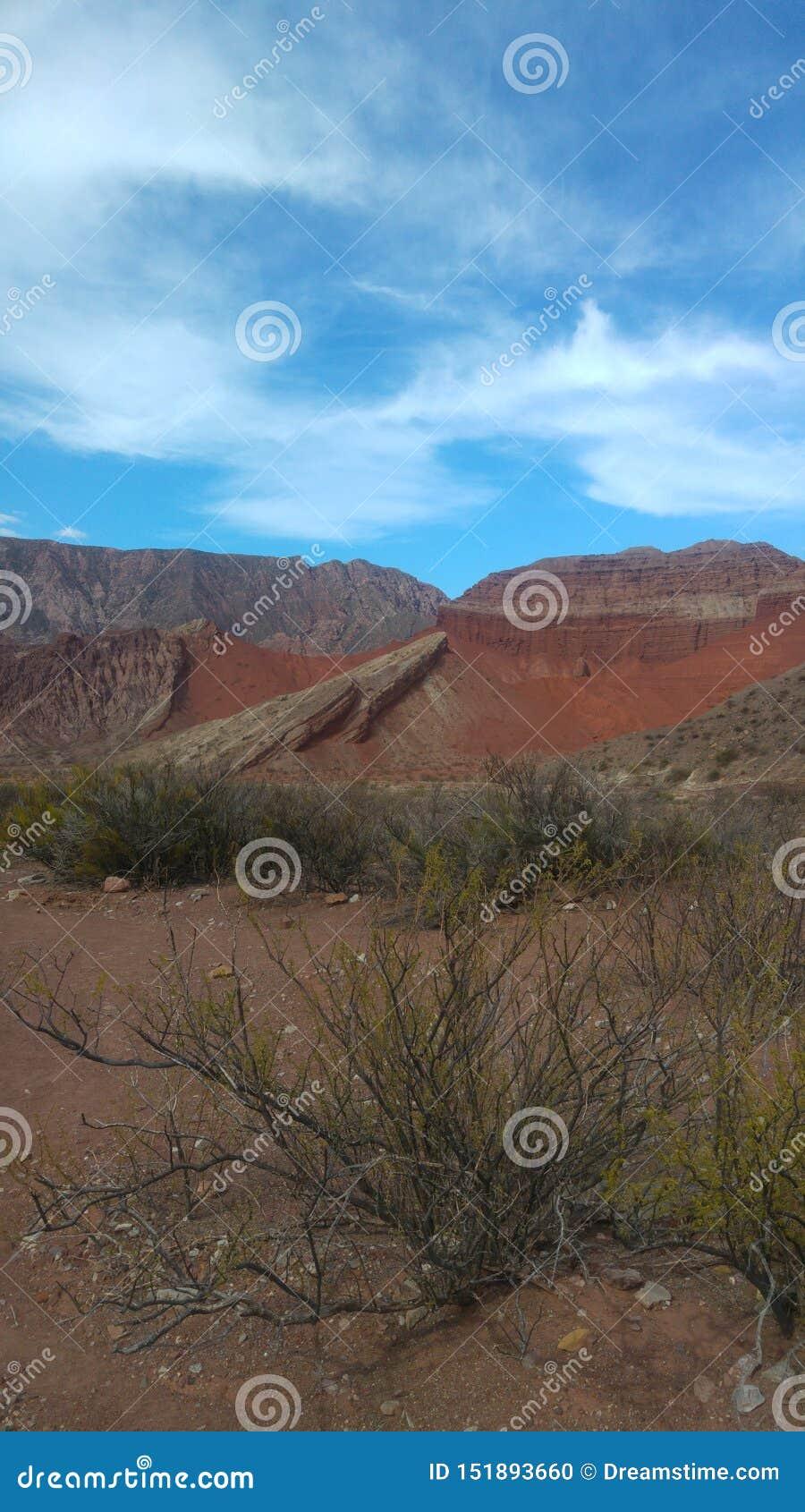 Visibilité directe Colorados de Cafayate Salta Argentine