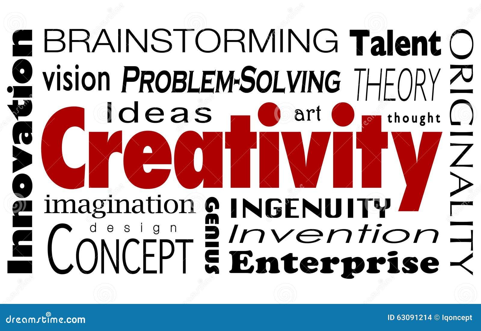 Download Vision D'imagination D'idées D'innovation De Collage De Word De Créativité Illustration Stock - Illustration du entreprenant, idées: 63091214