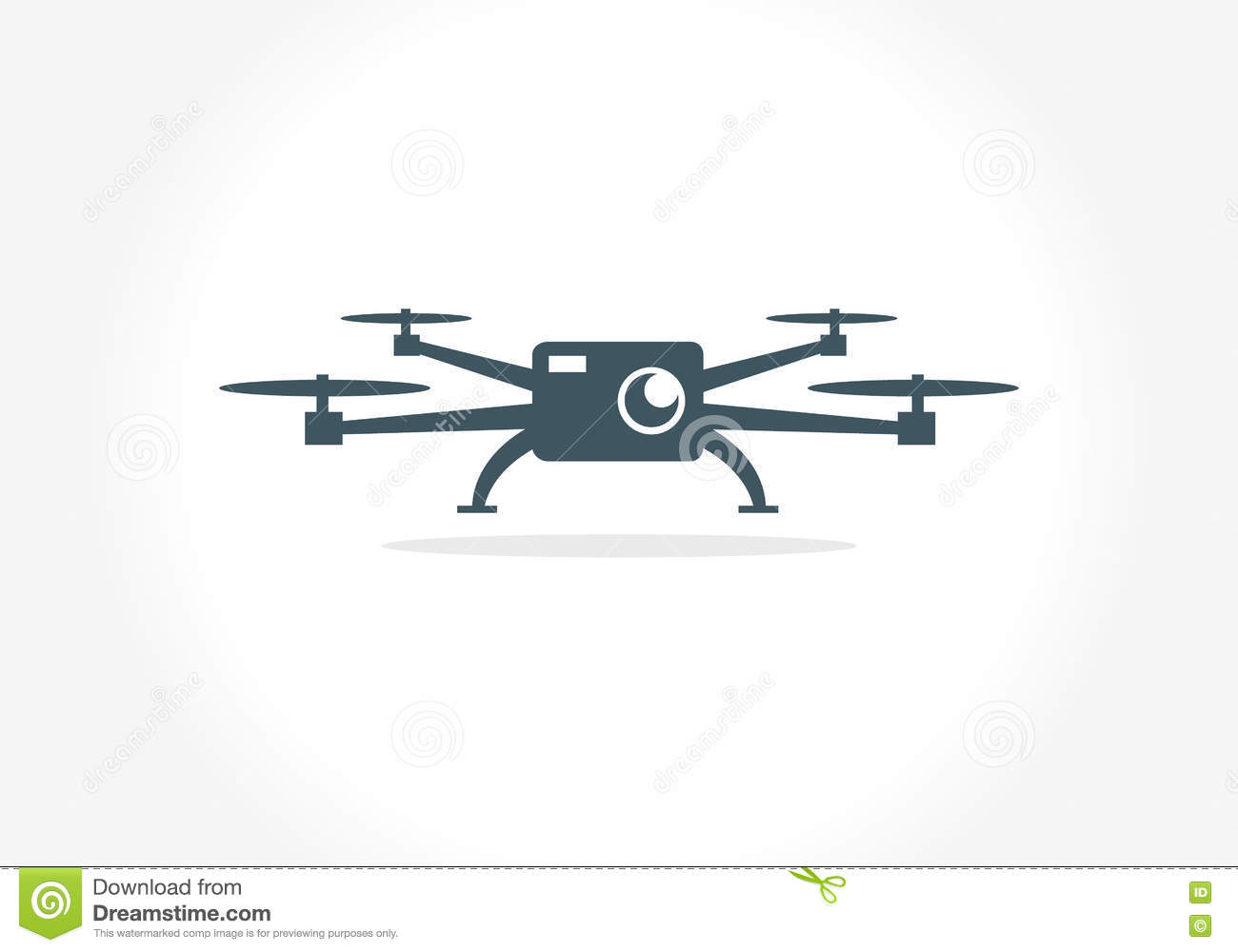 Vision Drone Symbol Drone Photography Aerial Drone Stock Vector