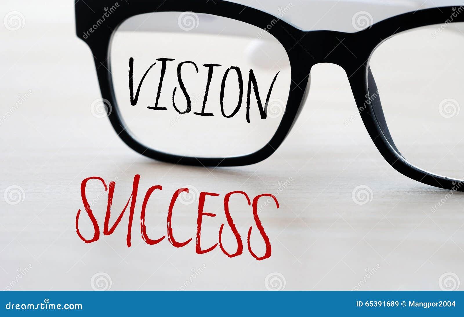 Vision et succès, concept d affaires