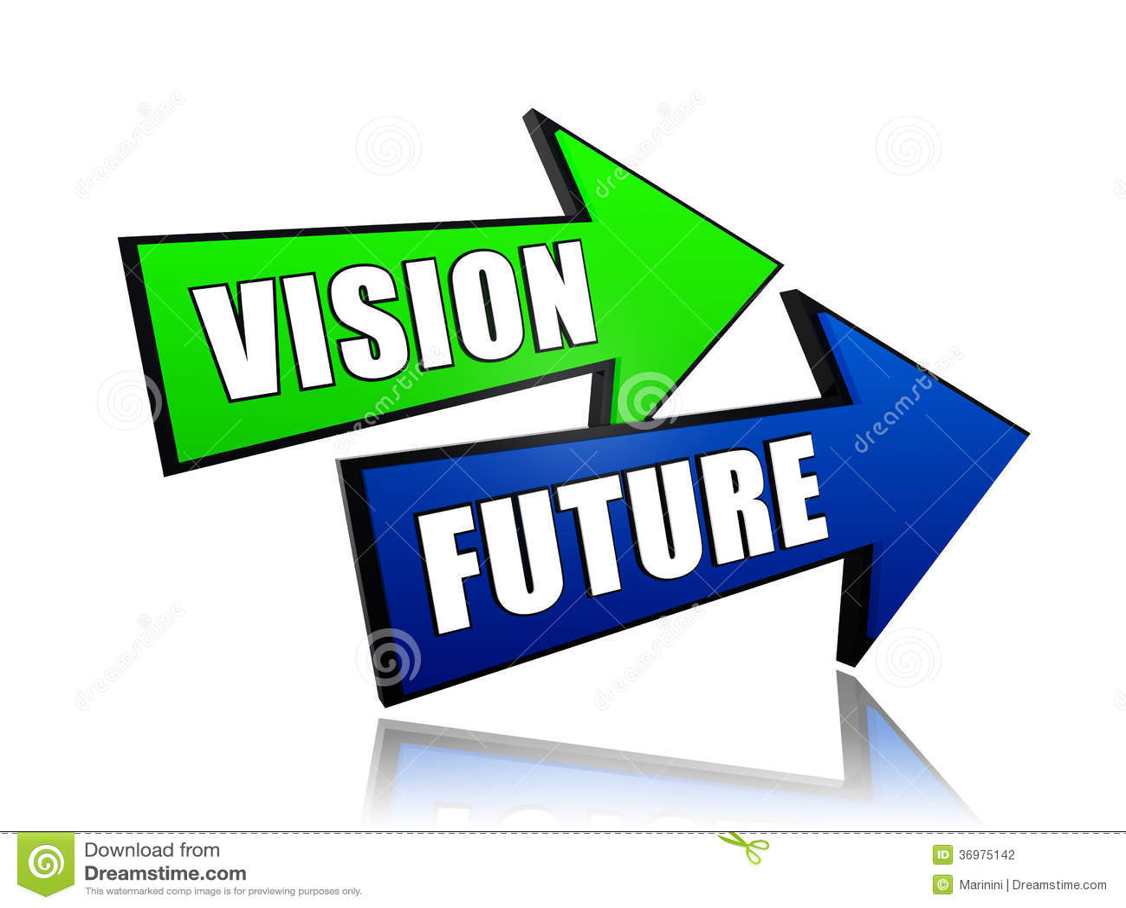 vision future in arrows stock illustration illustration of ambition rh dreamstime com vision clip art free vision clip art images