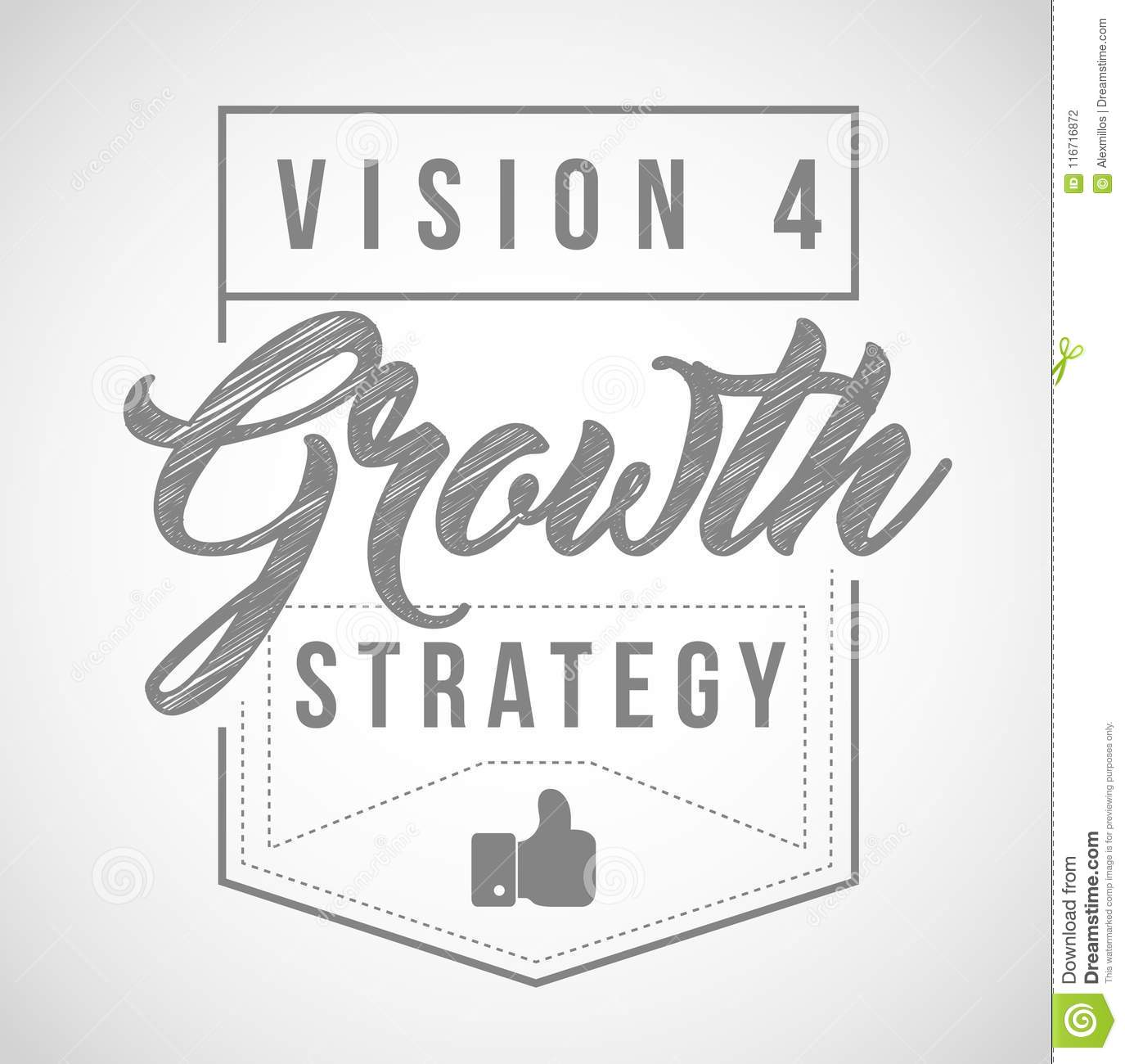 Vision for growth strategy seal in line graphics