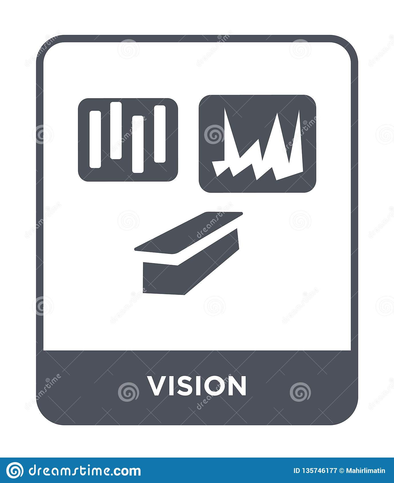 vision icon in trendy design style. vision icon isolated on white background. vision vector icon simple and modern flat symbol for