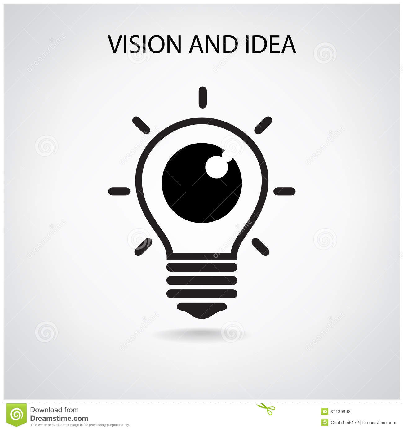 Vision and ideas sign,eye icon,light bulb symbol ,business concept ...