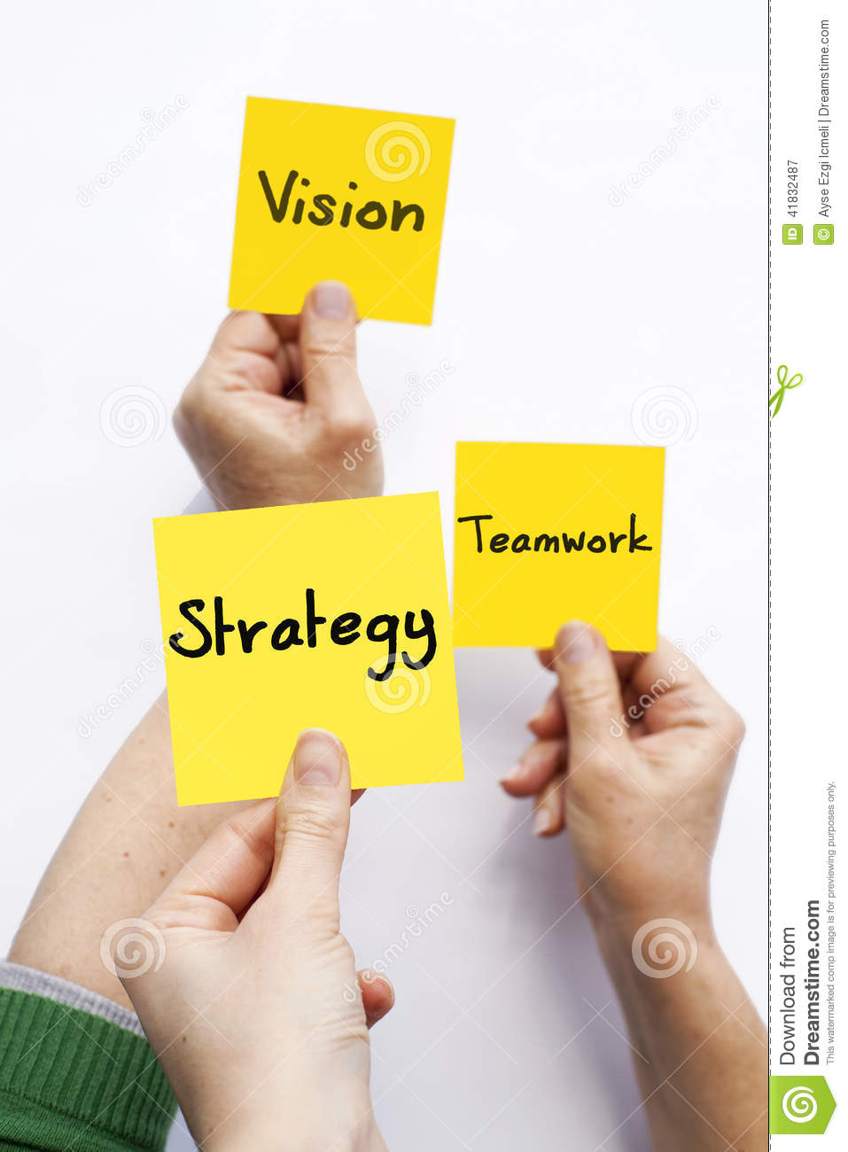 Vision Teamwork Strategy Stock Photo Image 41832487