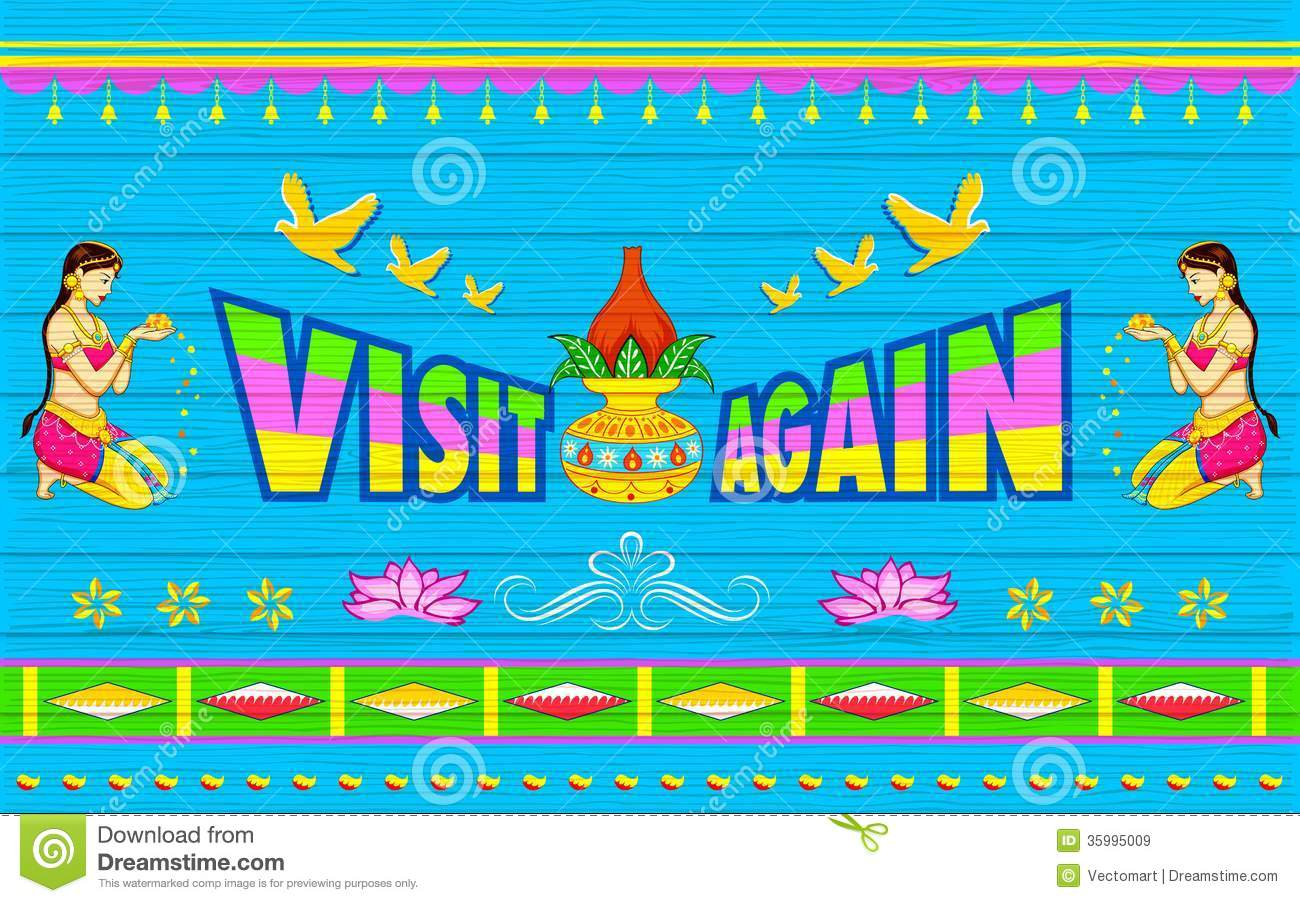 Visit Again Poster Royalty Free Stock Images Image 35995009