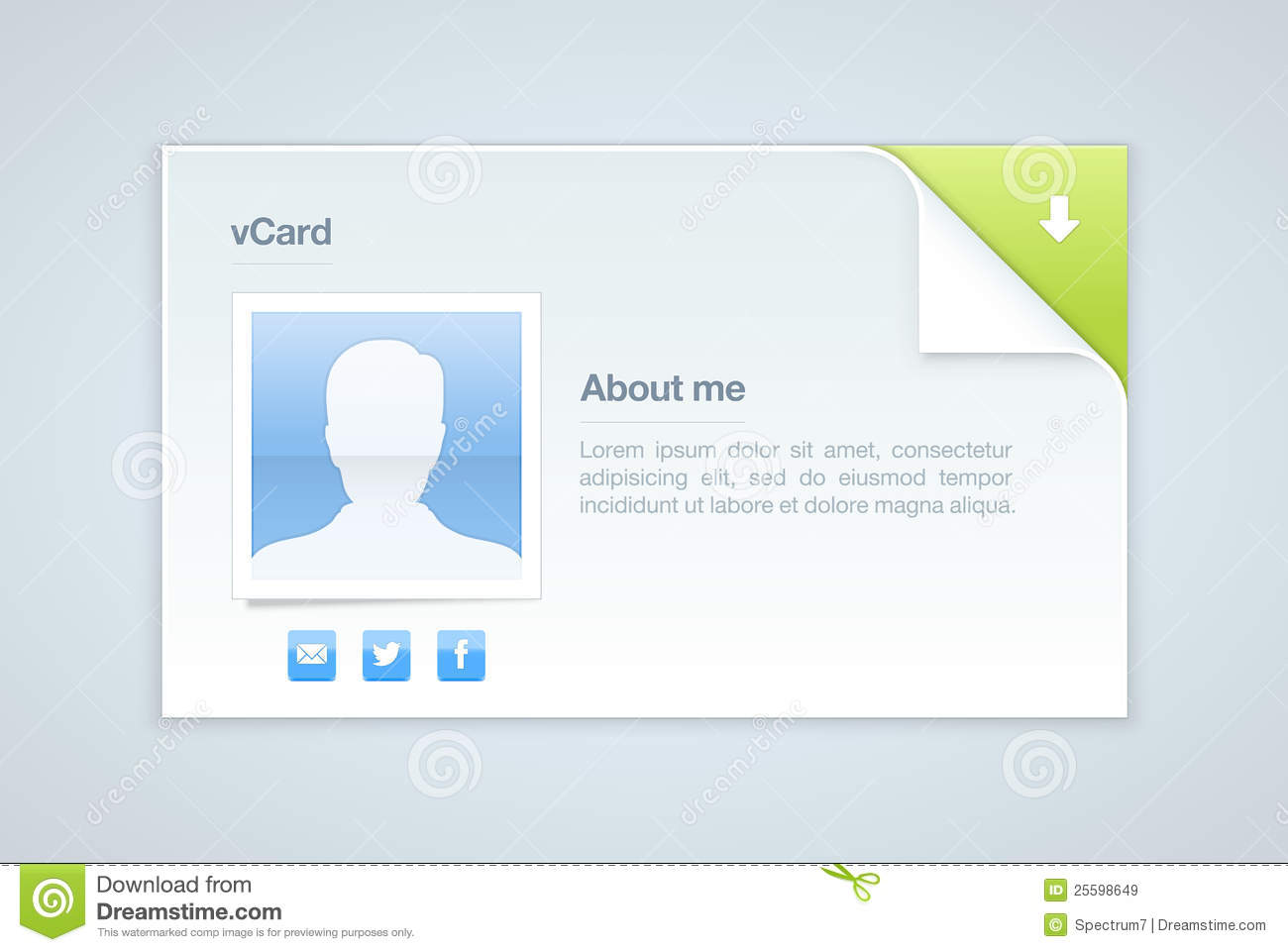 visit card  personal info vector illustration editorial