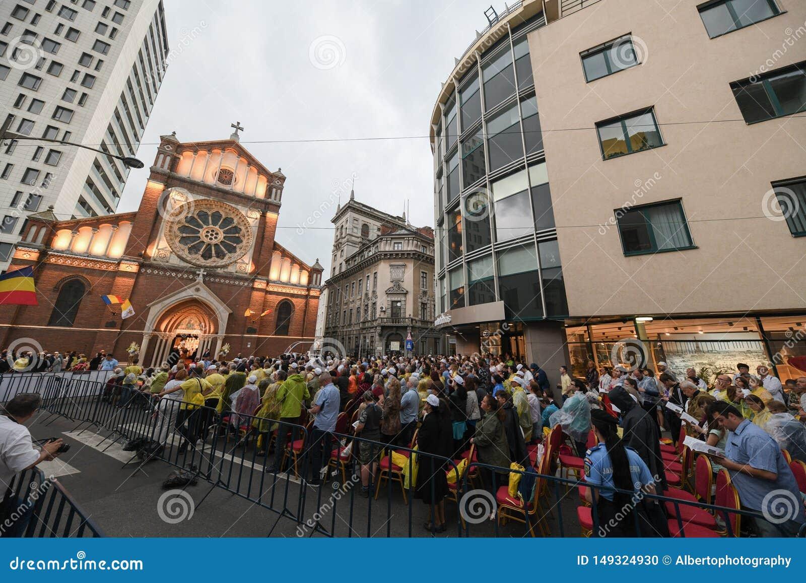 Visita di papa Francis in Romania