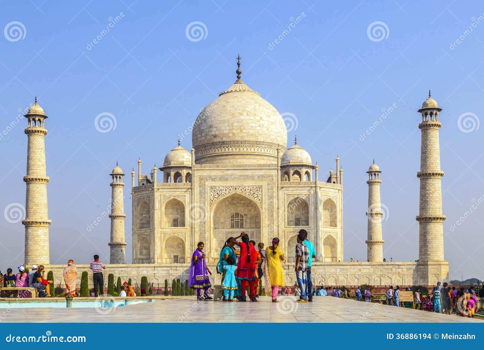 Download Visita Taj Mahal Della Gente A Agra, Immagine Stock Editoriale - Immagine di marmo, islam: 36886194
