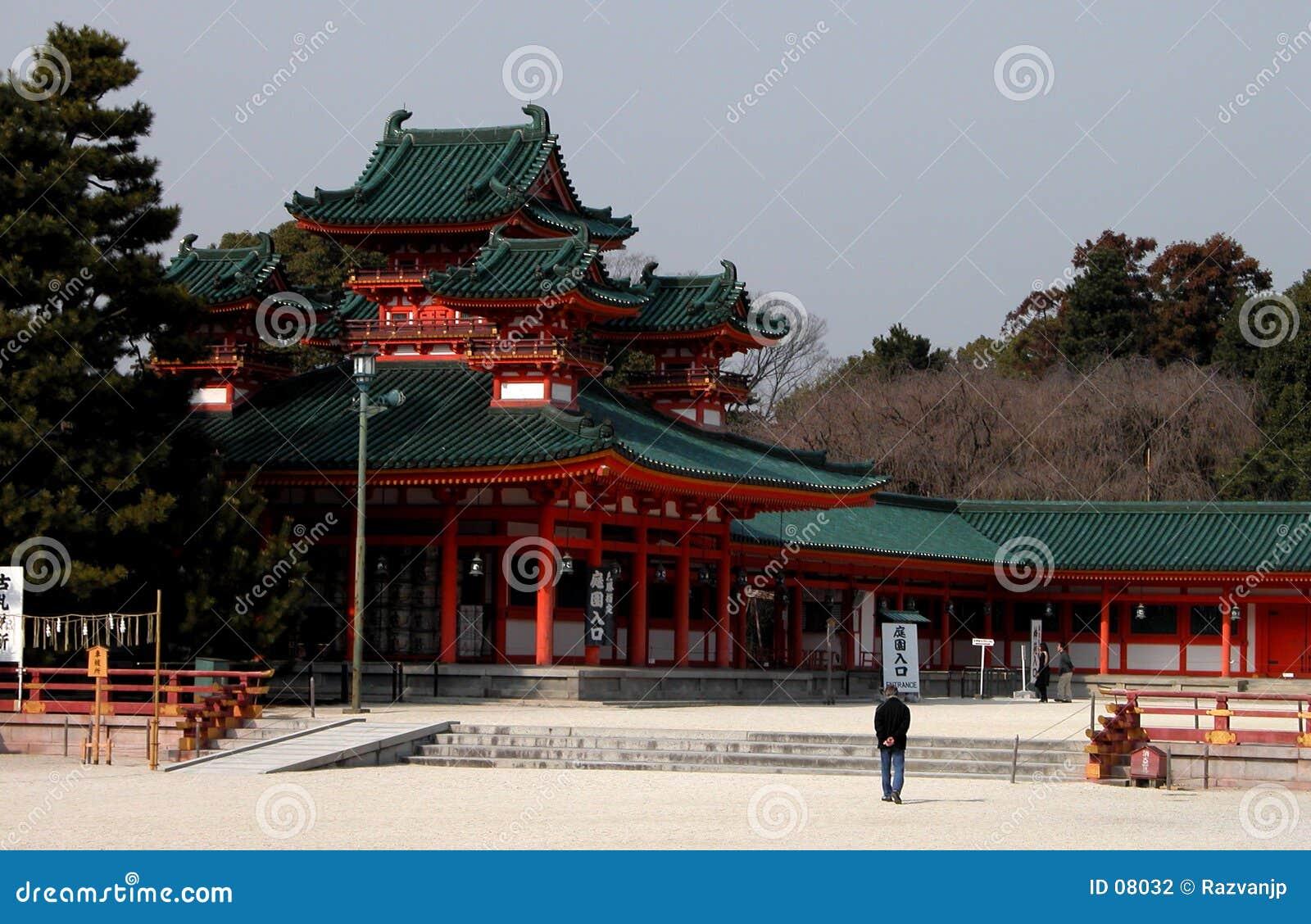 Visitando um templo