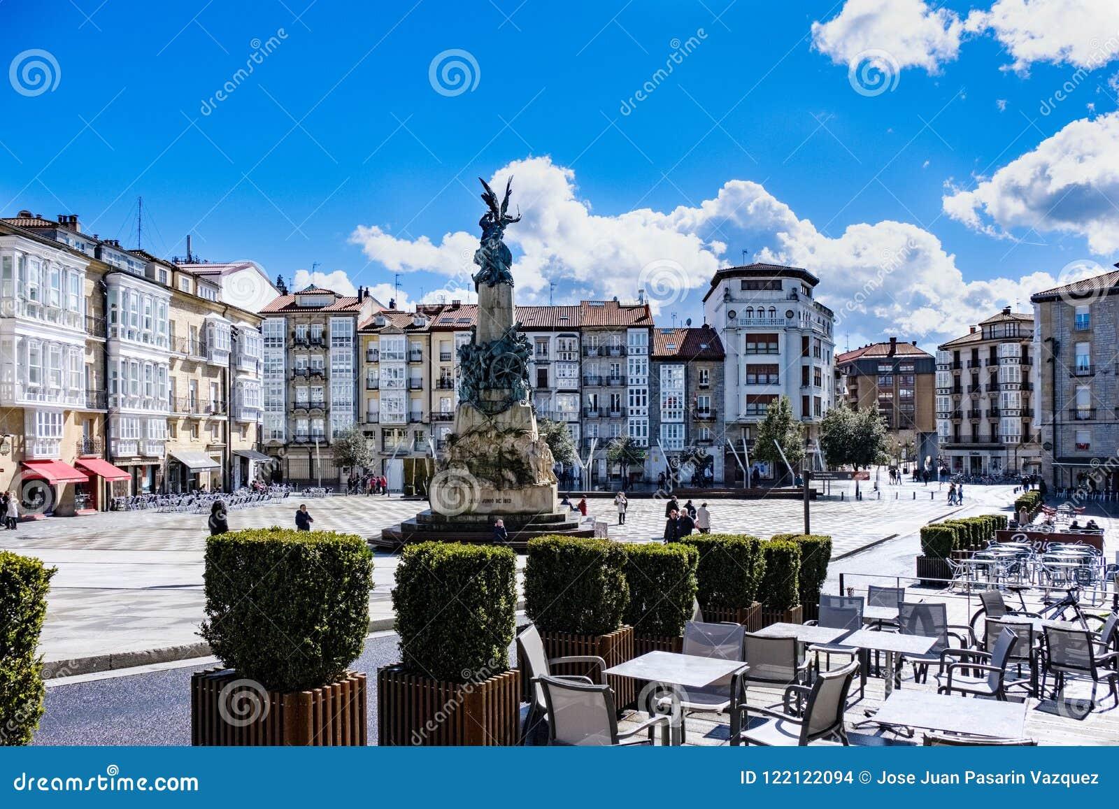 Visitando in Vitoria Spagna
