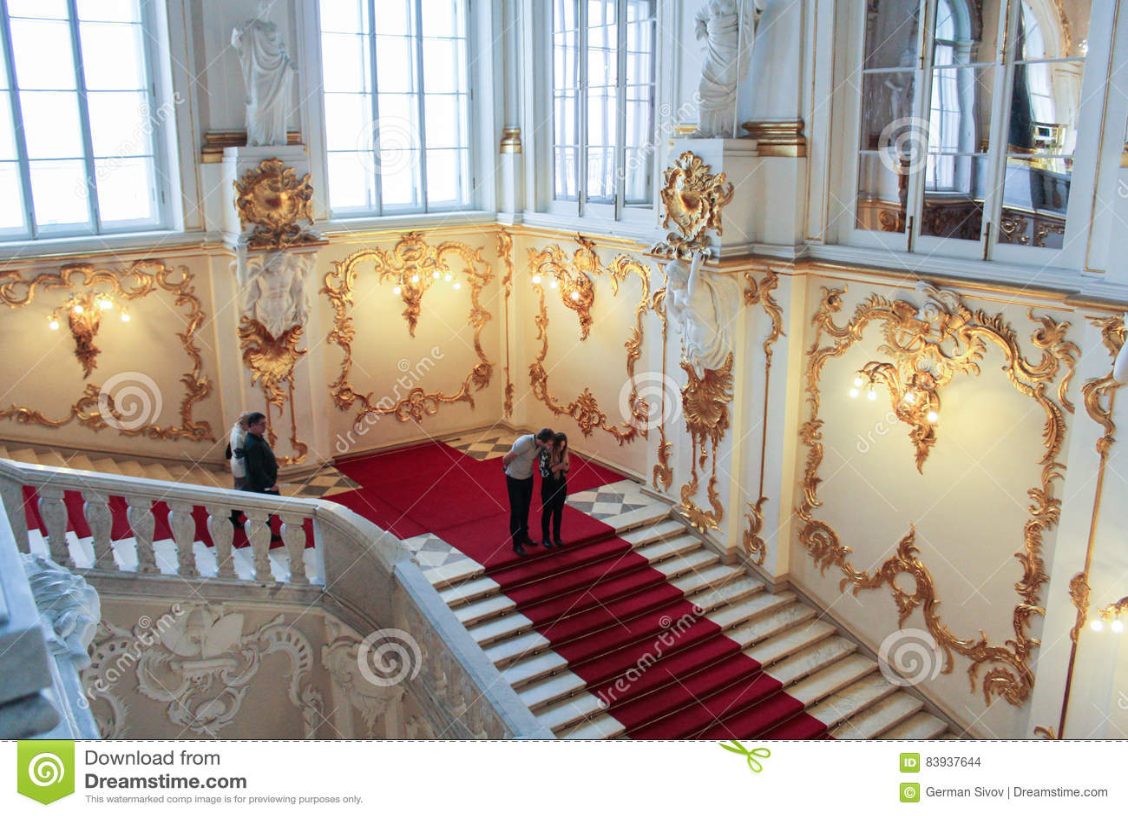 Visitantes a Jordan Staircase Hermitage