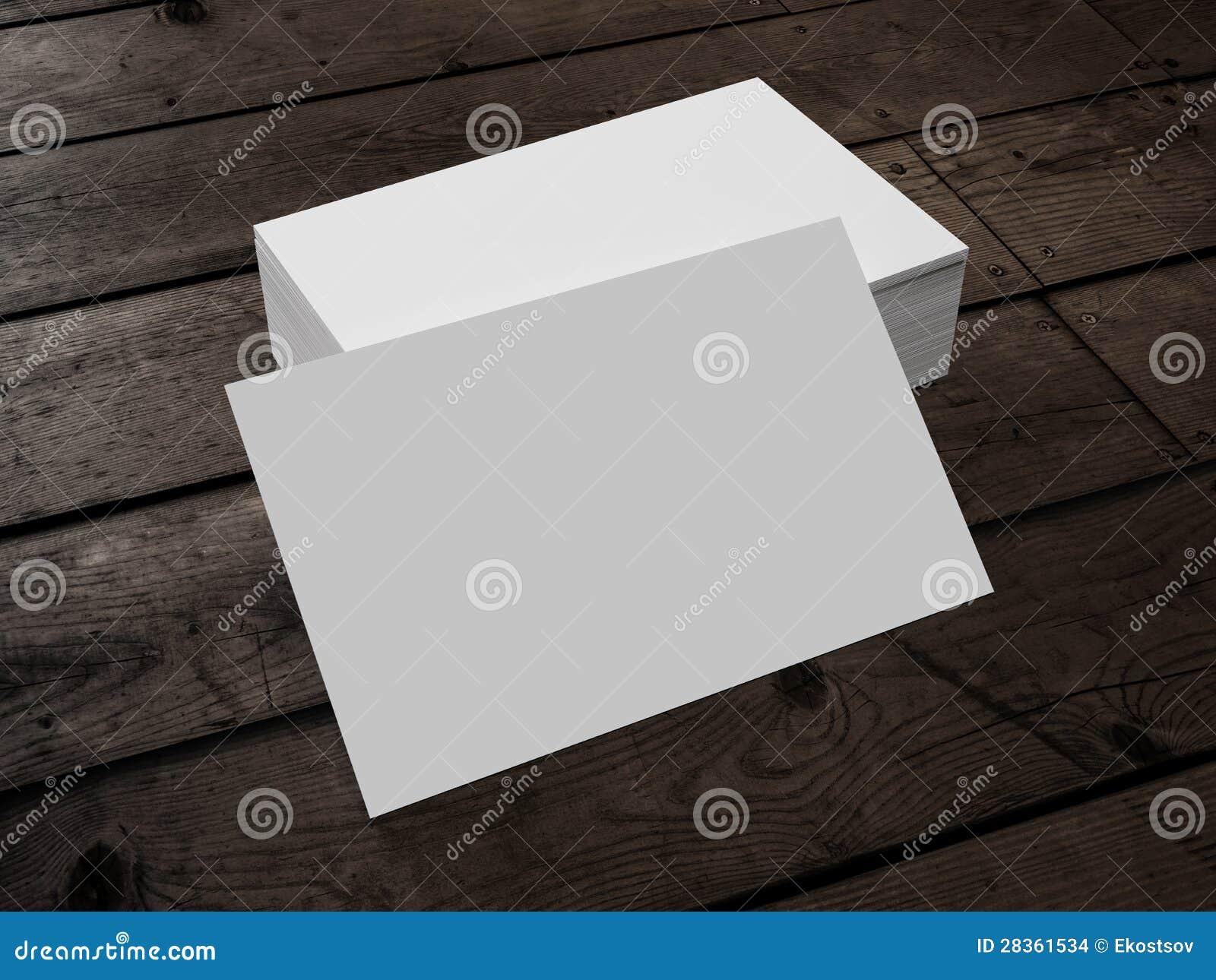 Visitenkarte Auf Holz Stock Abbildung Illustration Von