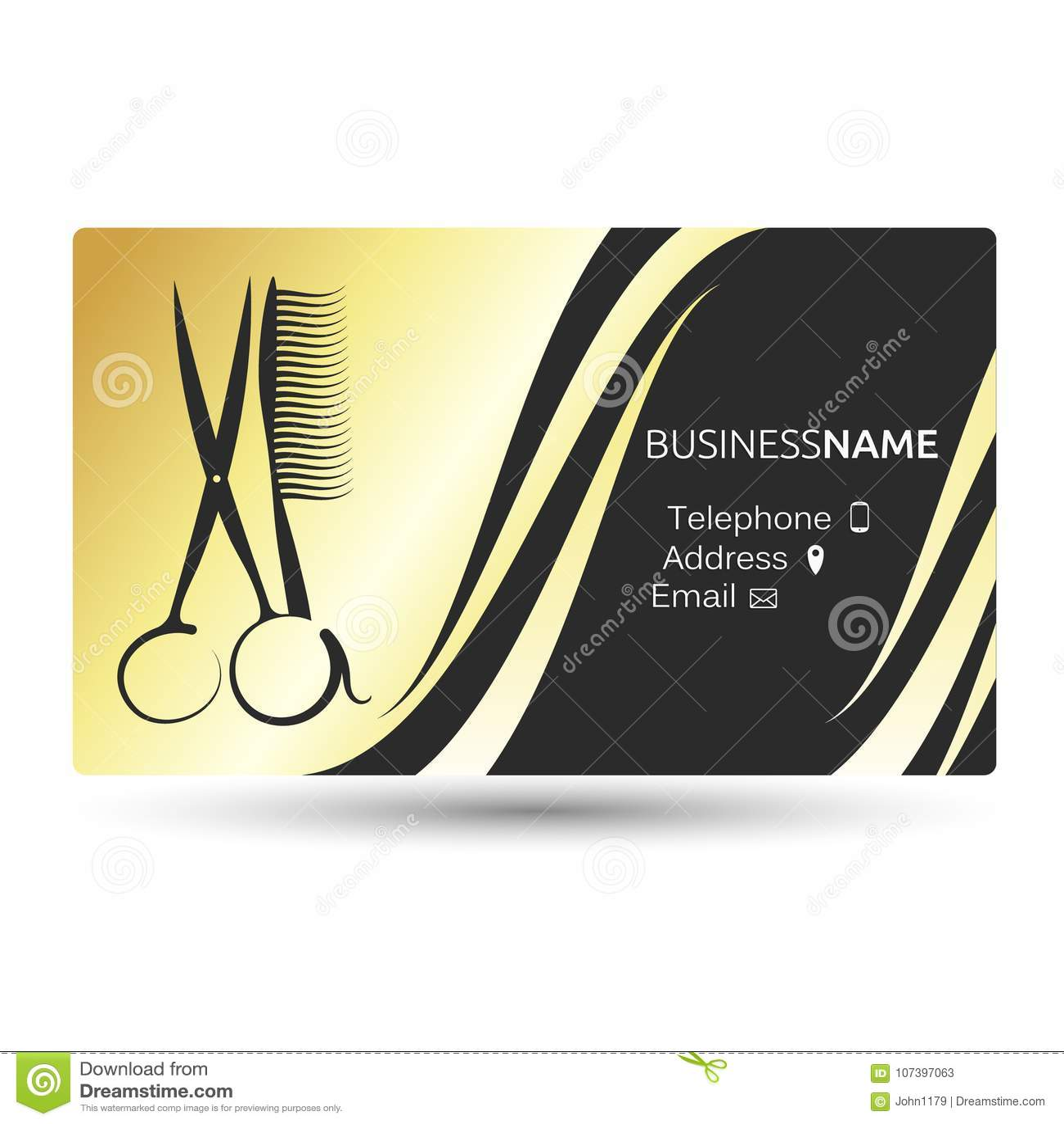 Visitenkarte Für Schönheitssalon Und Friseur Vektor
