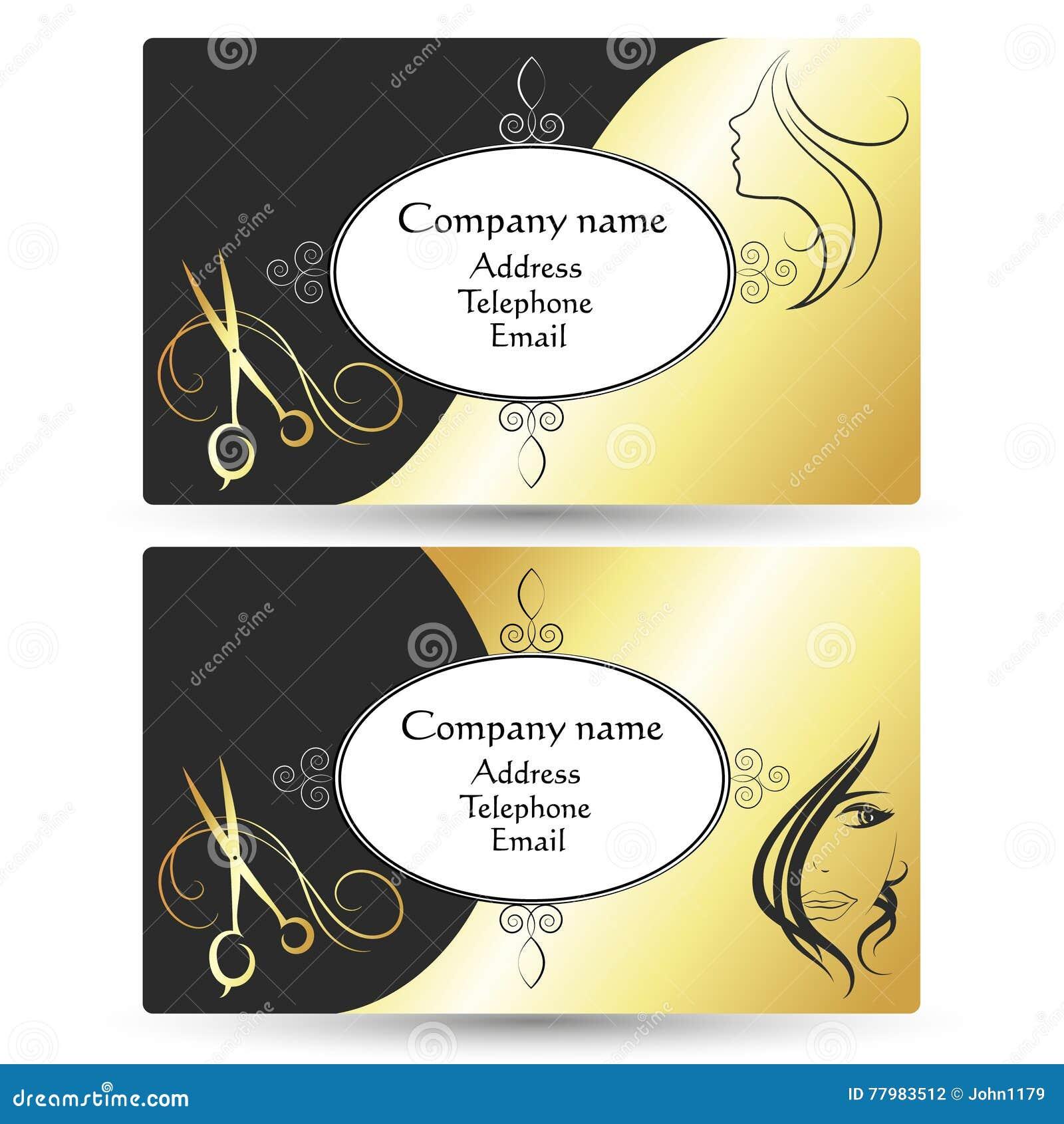 Visitenkarte Für Schönheitssalon Und Friseursalon Vektor
