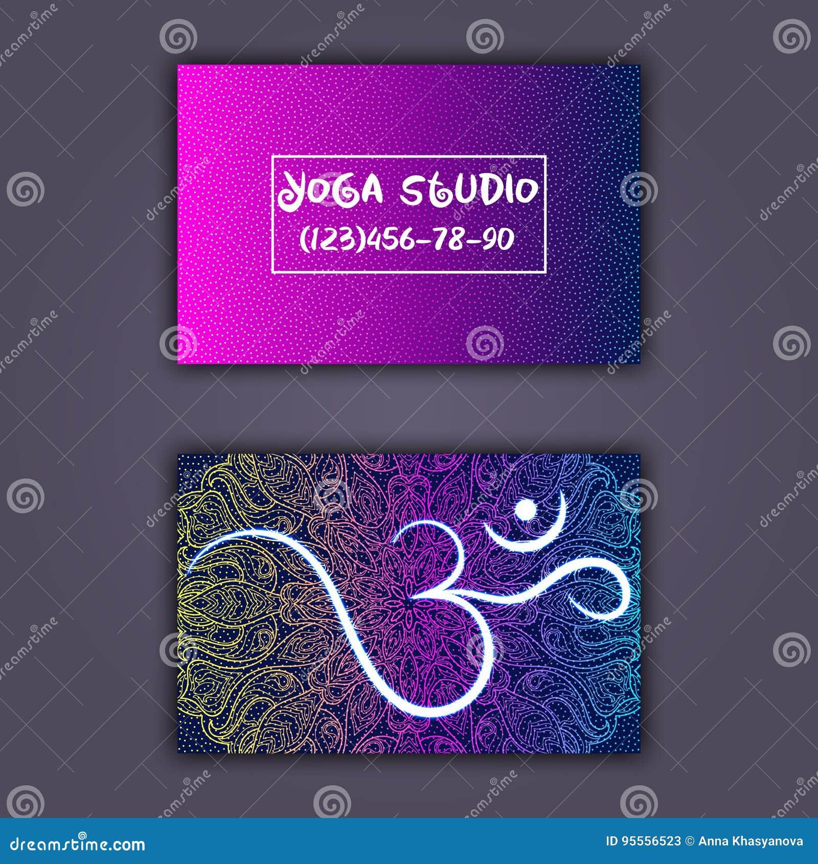 Visitenkarte Für Yogastudio Oder Yogalehrer Ethnischer