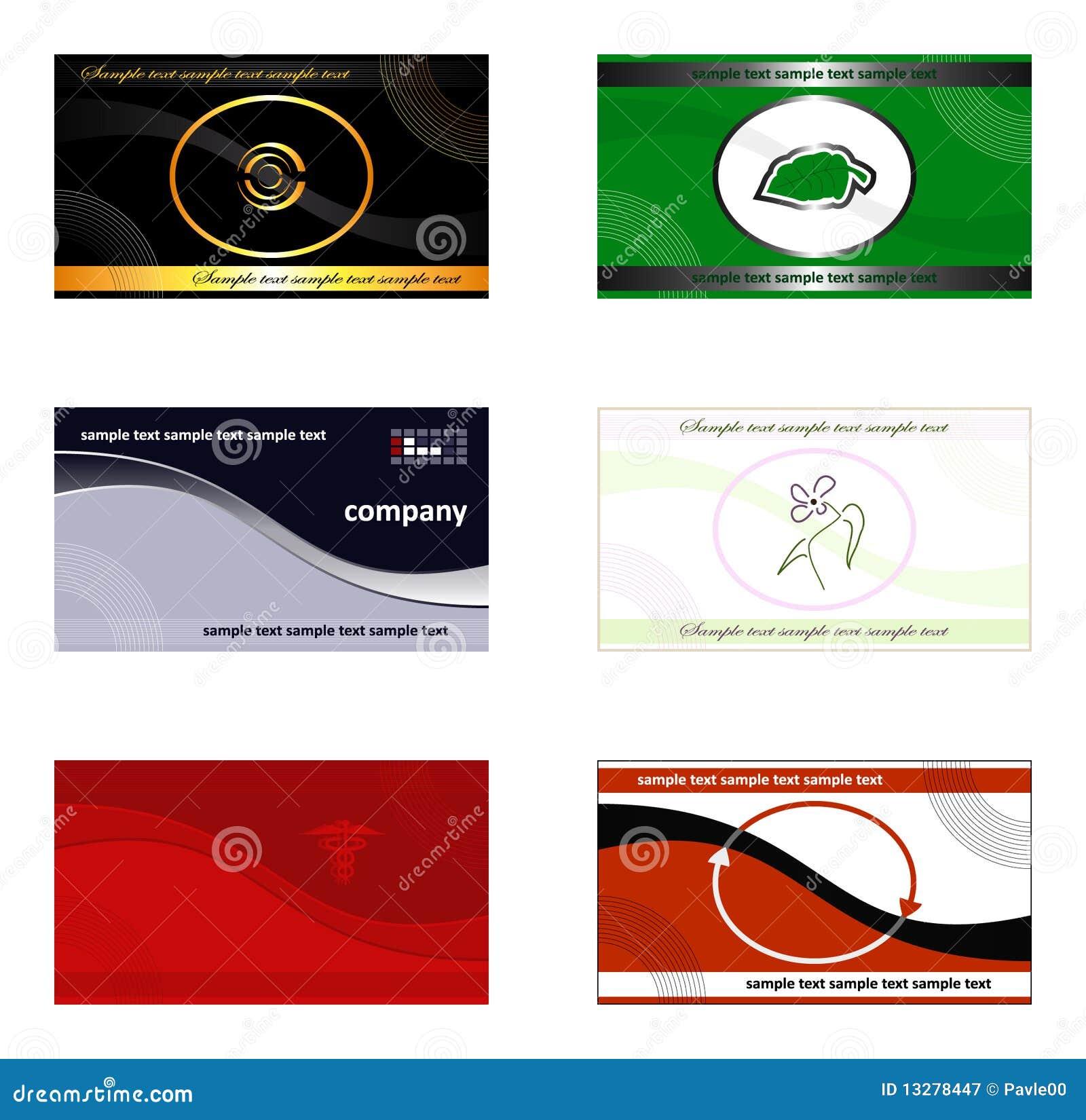 Visitenkarten Fahnen Hintergründe Und Zeichen Vektor