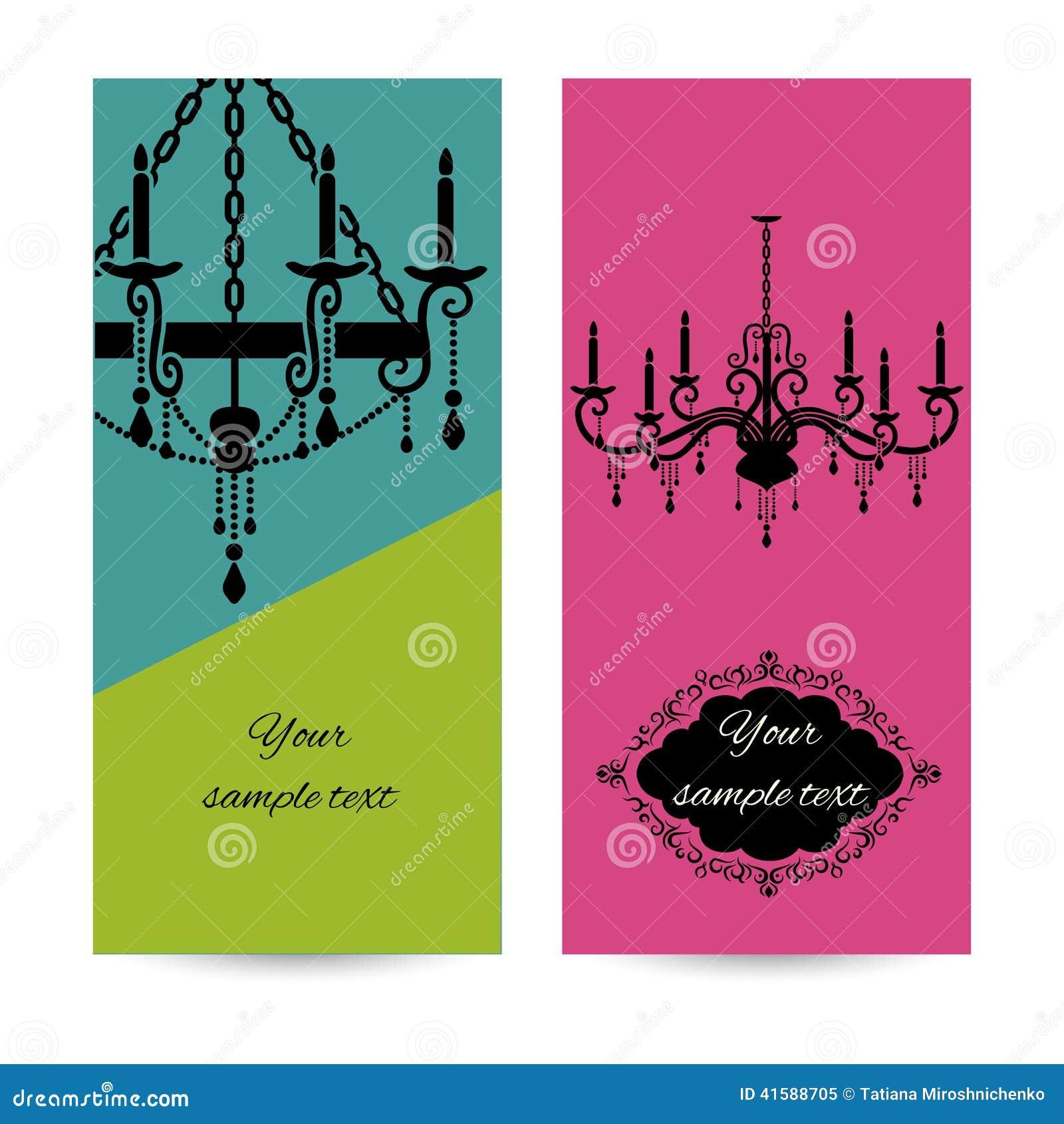 Visitenkarteschablone mit Leuchter, Broschüre