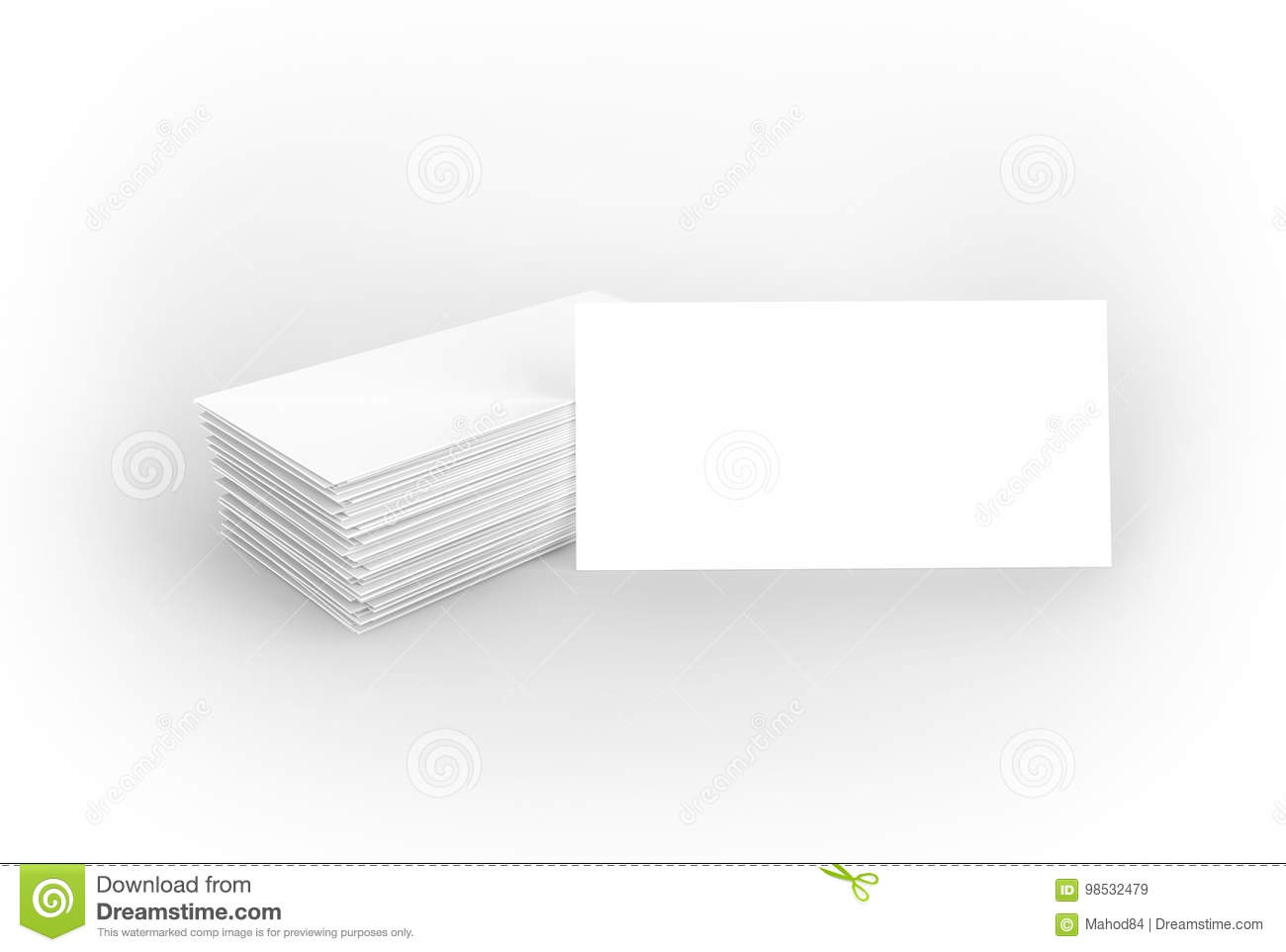 Visiting Card Blank Mockup Template On A Dark Background Stock