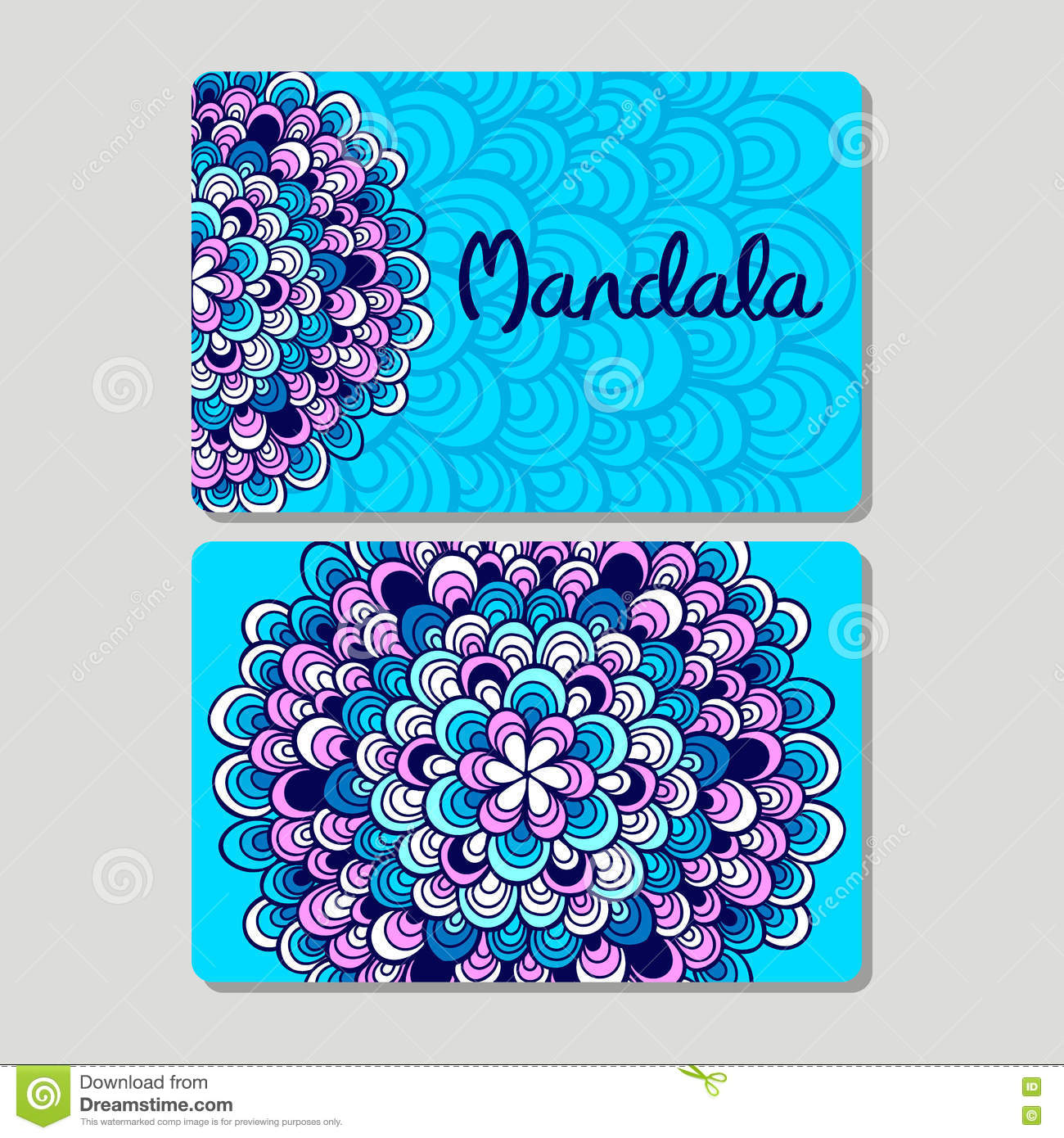 Visiting Card And Business Card Set. Abstract Oriental Design Layout ...