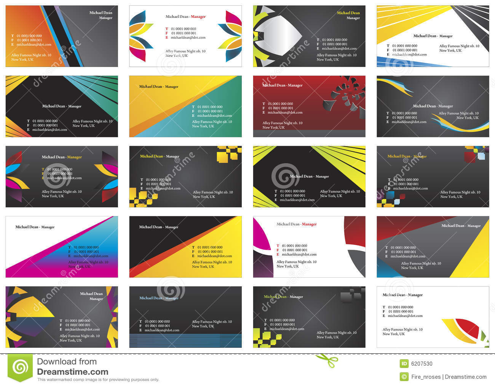 Visiting Cards 4 Stock Photos - Image: 6206963