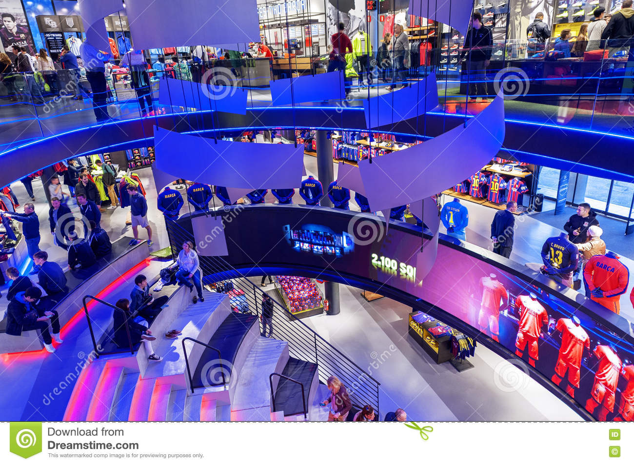 Visiting FC Barcelona Official Store Editorial Stock Photo - Image ... 89503b4928d