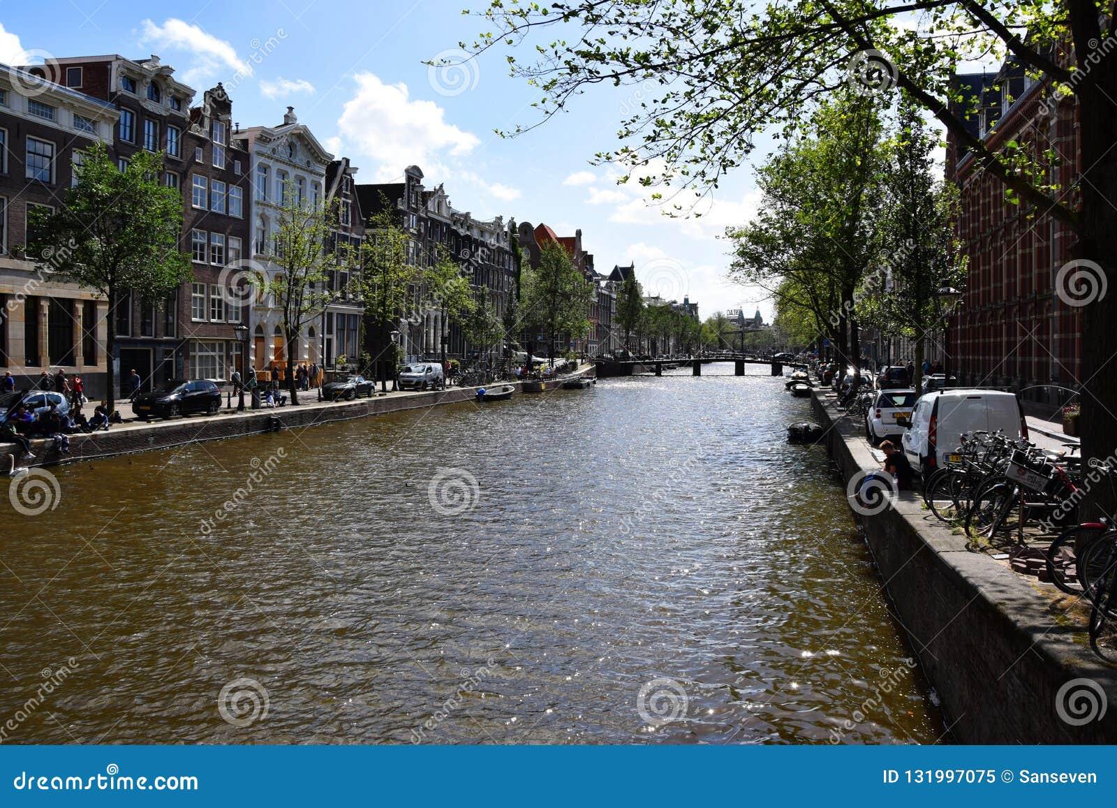 Wijde heisteeg bridge, Herengracht Canal, Amsterdam, Holland, Netherlands