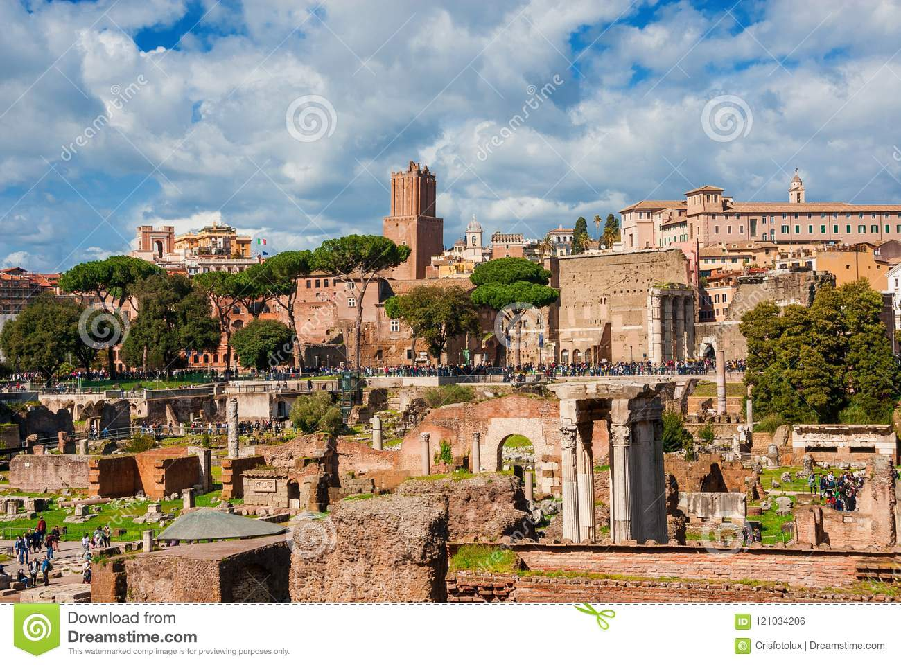 Visiting Roman and Imperial Forum in Rome