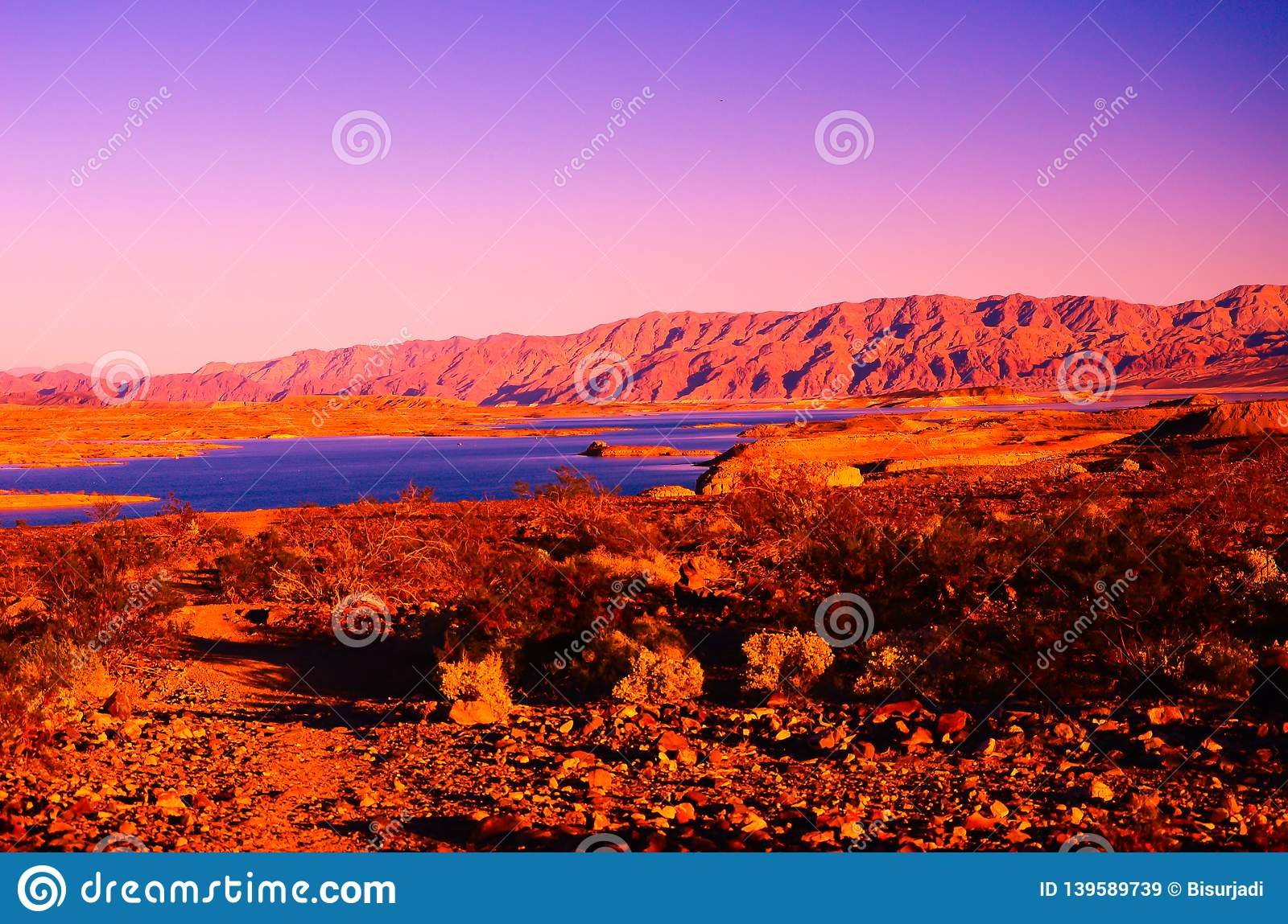 Sandy canyon hill in the desert