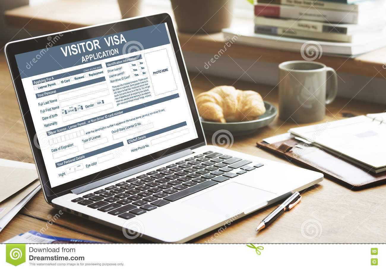 Visitor Visa Application Immigration Concept