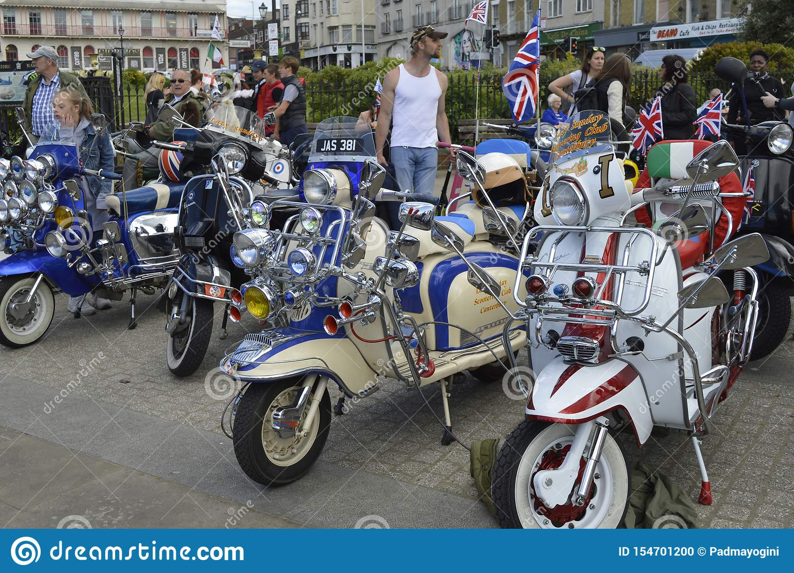 Visitors admire motorbikes at Margate Meltdown annual bike ride.